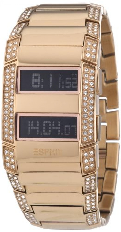 Esprit Damen-Armbanduhr Esprit Watch Fulmina Centauri Rose Digital Quarz Edelstahl beschichtet ES101242703