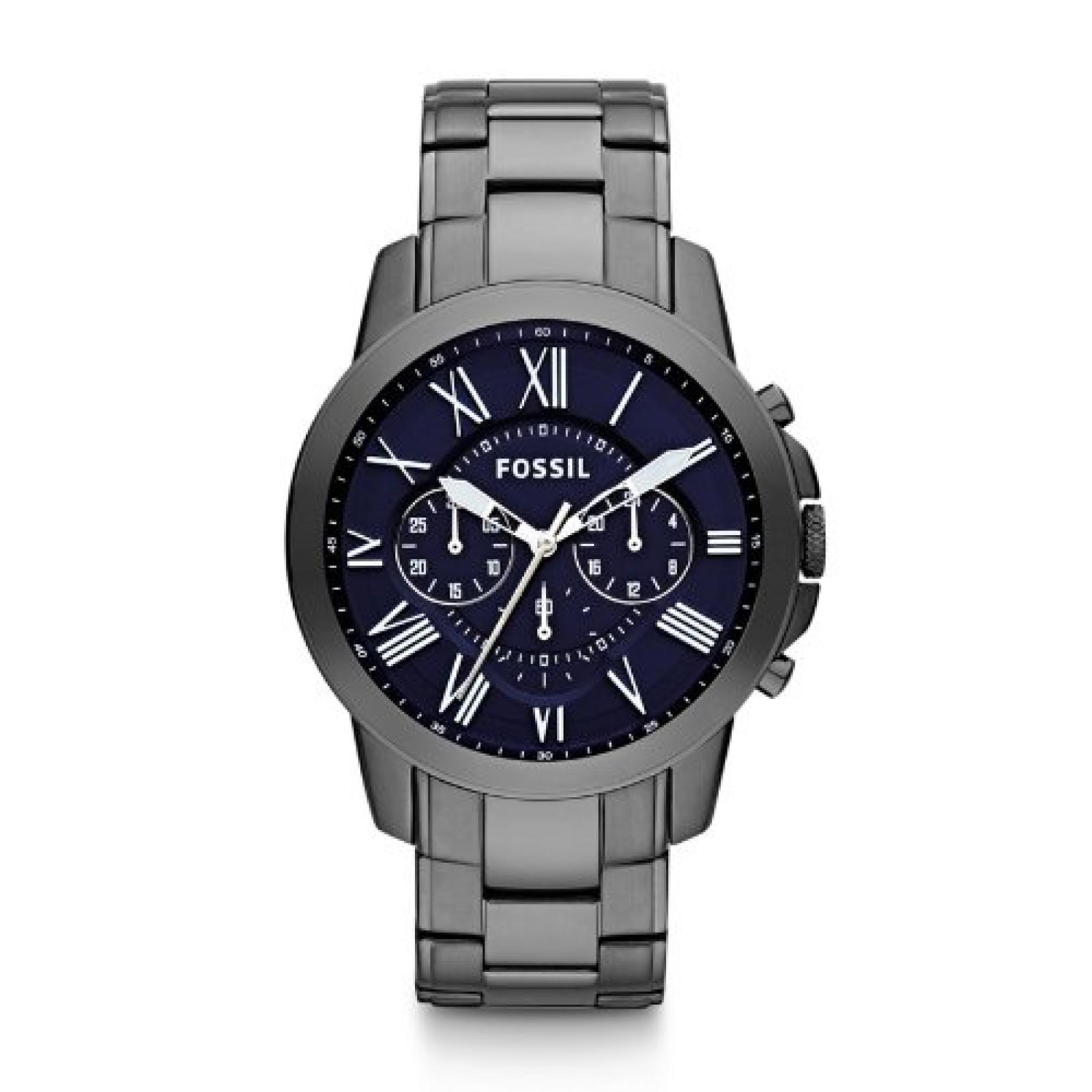 Fossil Herren-Armbanduhr XL Chronograph Quarz Edelstahl FS4831