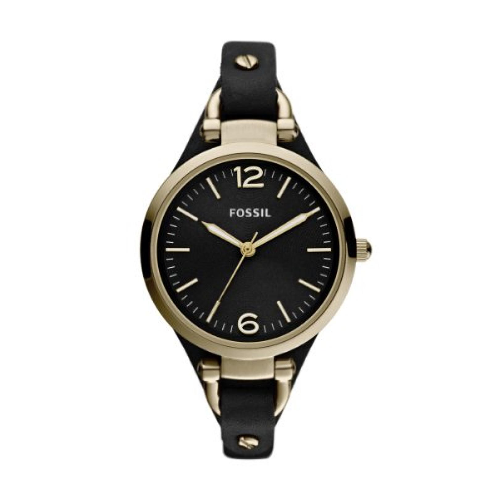 Fossil Damen-Armbanduhr XS Analog Quarz Leder ES3148
