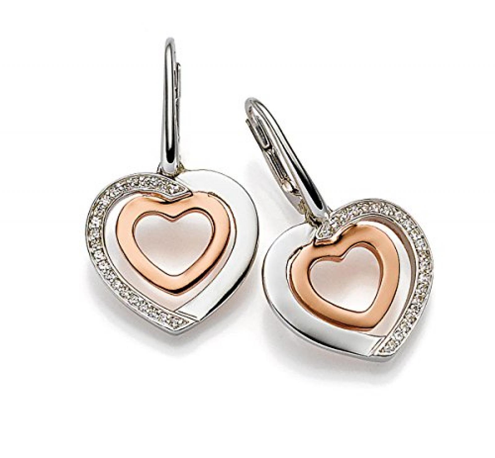 Viventy Damen-Ohrhänger Silber vergoldet rhodiniert Zirkonia weiß - 772034