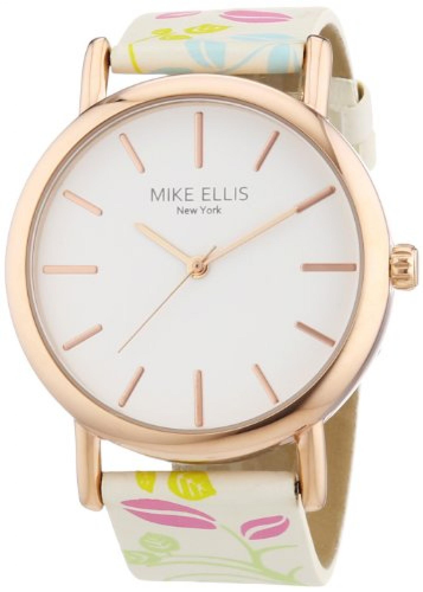 Mike Ellis New York Damen-Armbanduhr Analog Quarz Kunstleder L2979