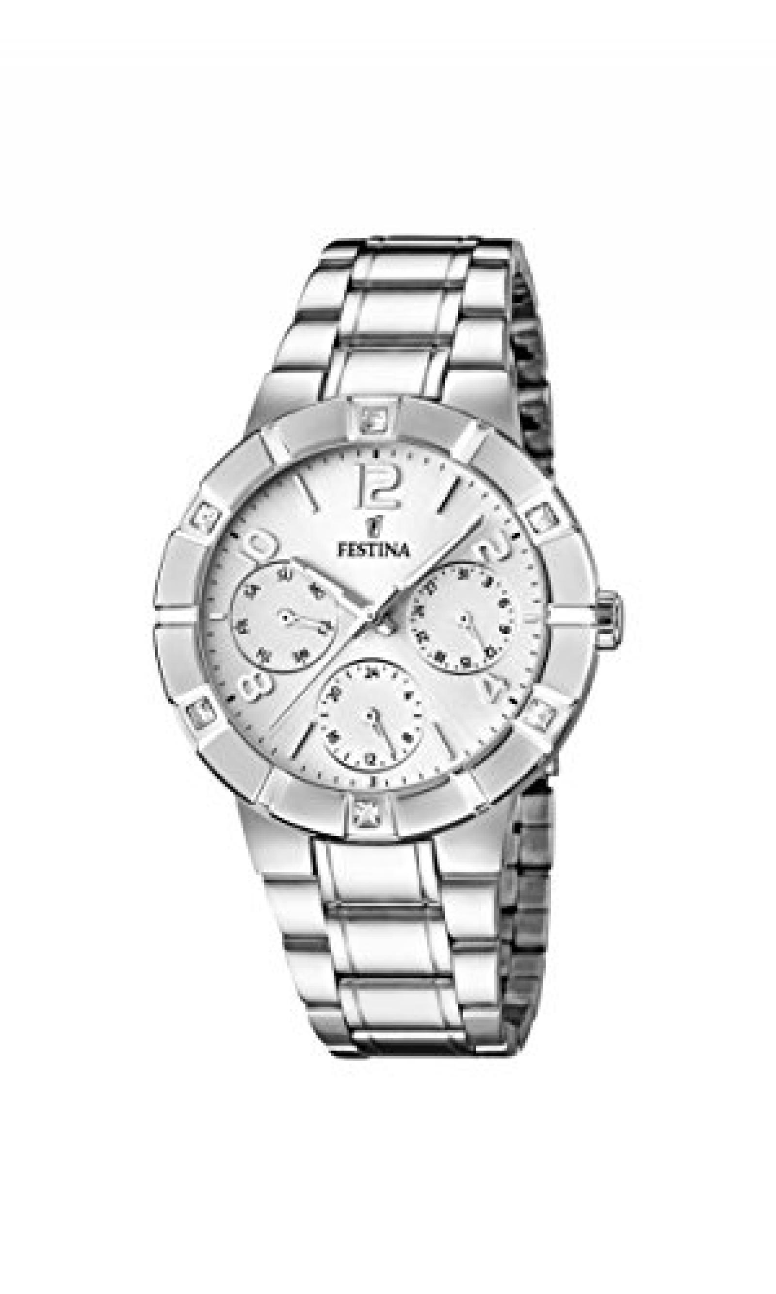 Festina Damen-Armbanduhr Analog Quarz Edelstahl F16706/1