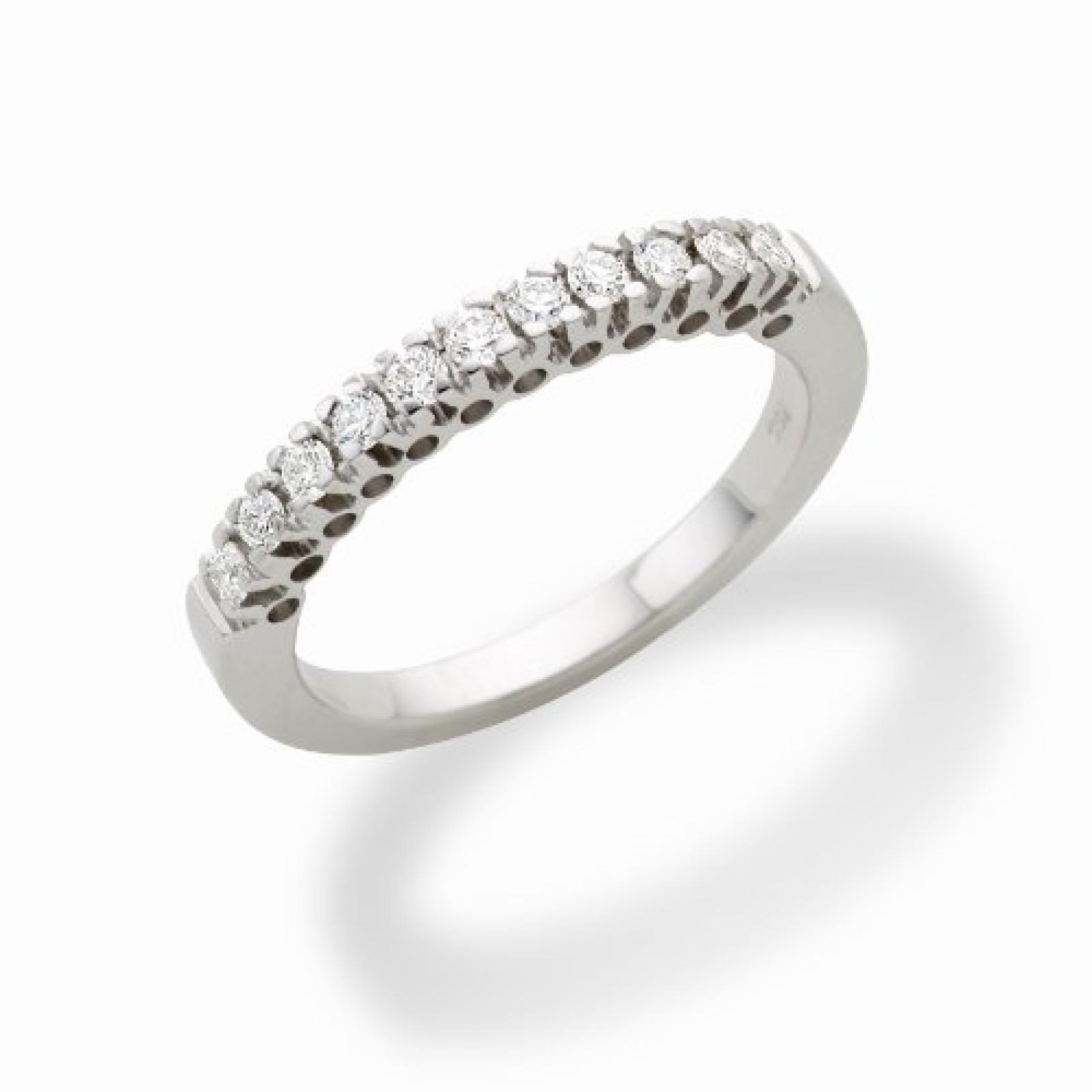 Miore MC223W Memoire - Diamantring 18 Karat (750) Weißgold mit 11 Brillanten zus.0,25Ct - IGI Zertifikat