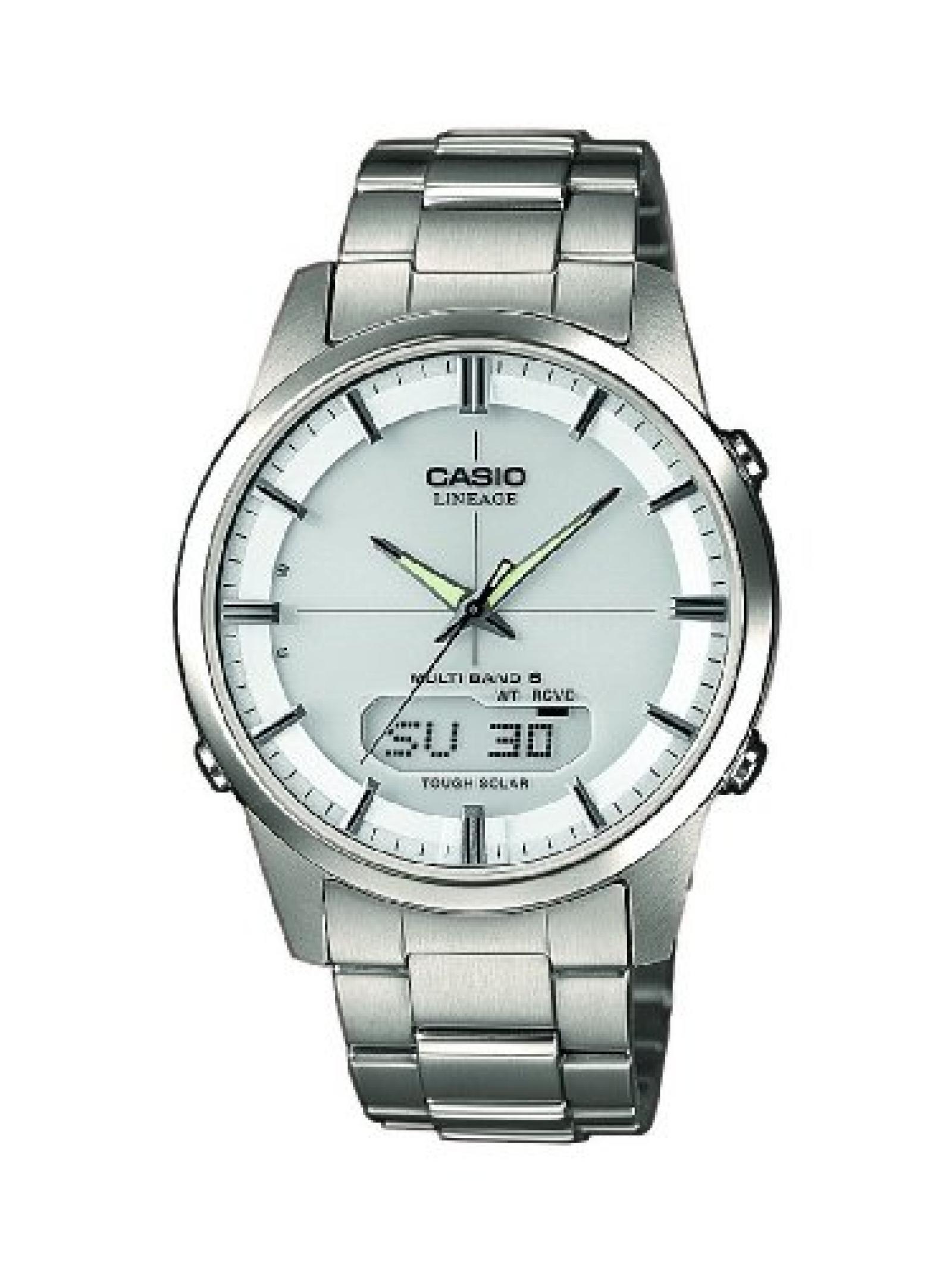 Casio Herren-Armbanduhr XL Radio Controlled Analog - Digital Quarz Titan LCW-M170TD-7AER