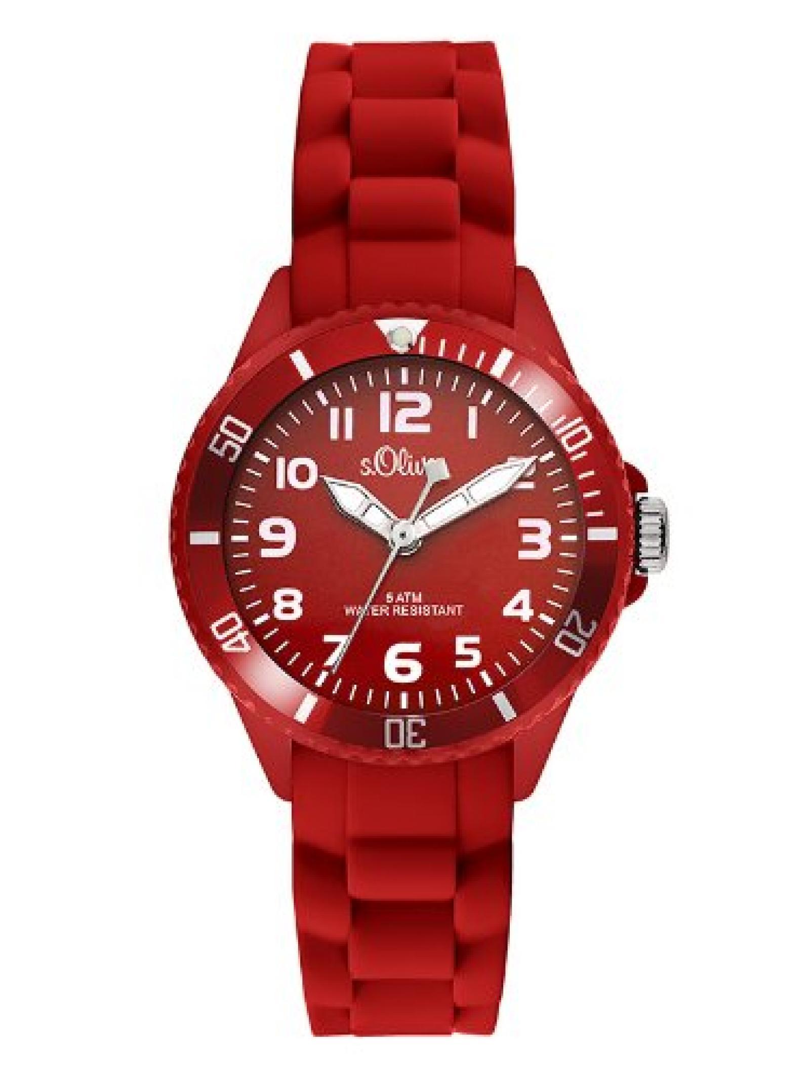 s.Oliver Unisex-Armbanduhr Analog Quarz Silikon SO-2756-PQ