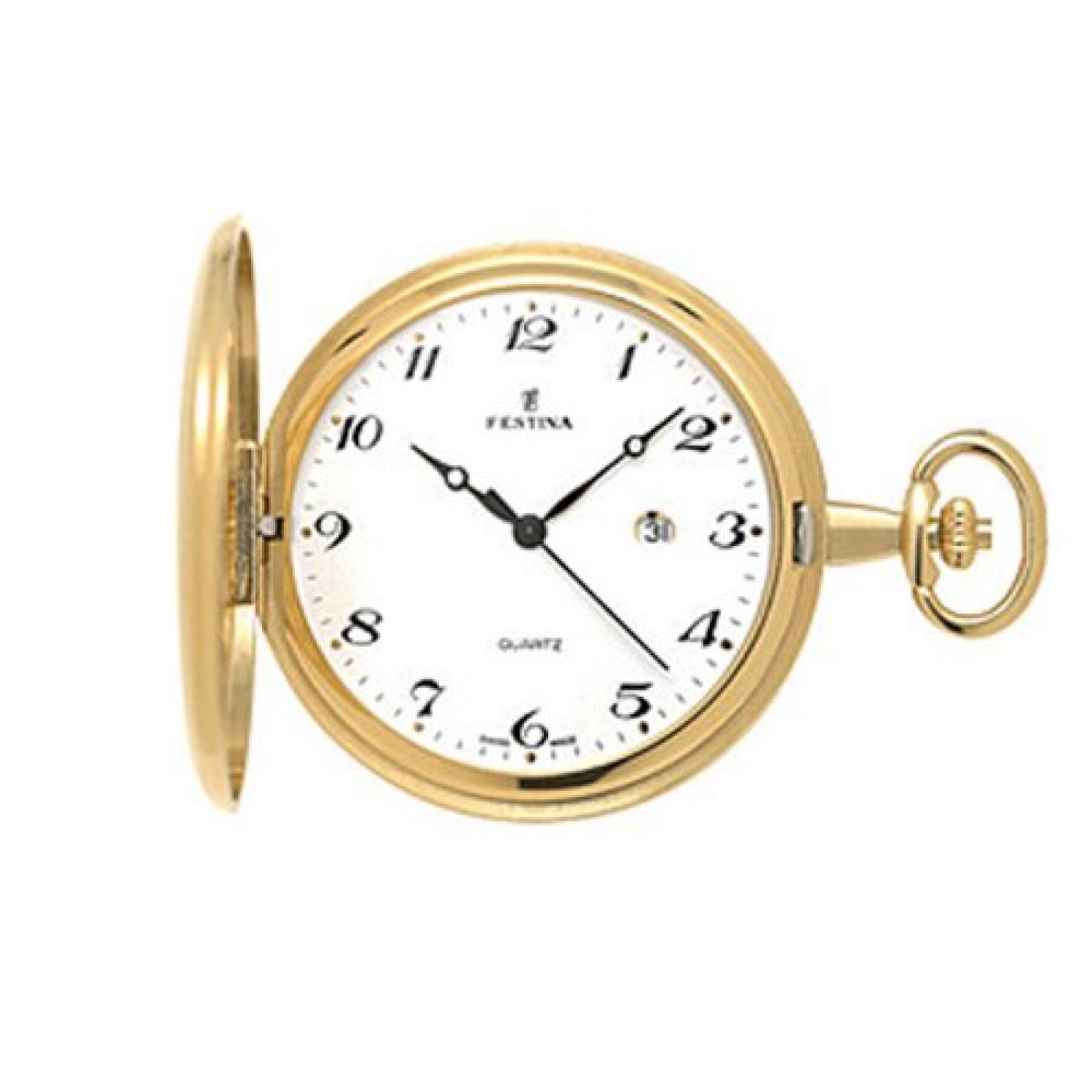 Festina Herren-Armbanduhr XL Klassik Taschenuhren vergoldet Analog Edelstahl beschichtet F2011/1