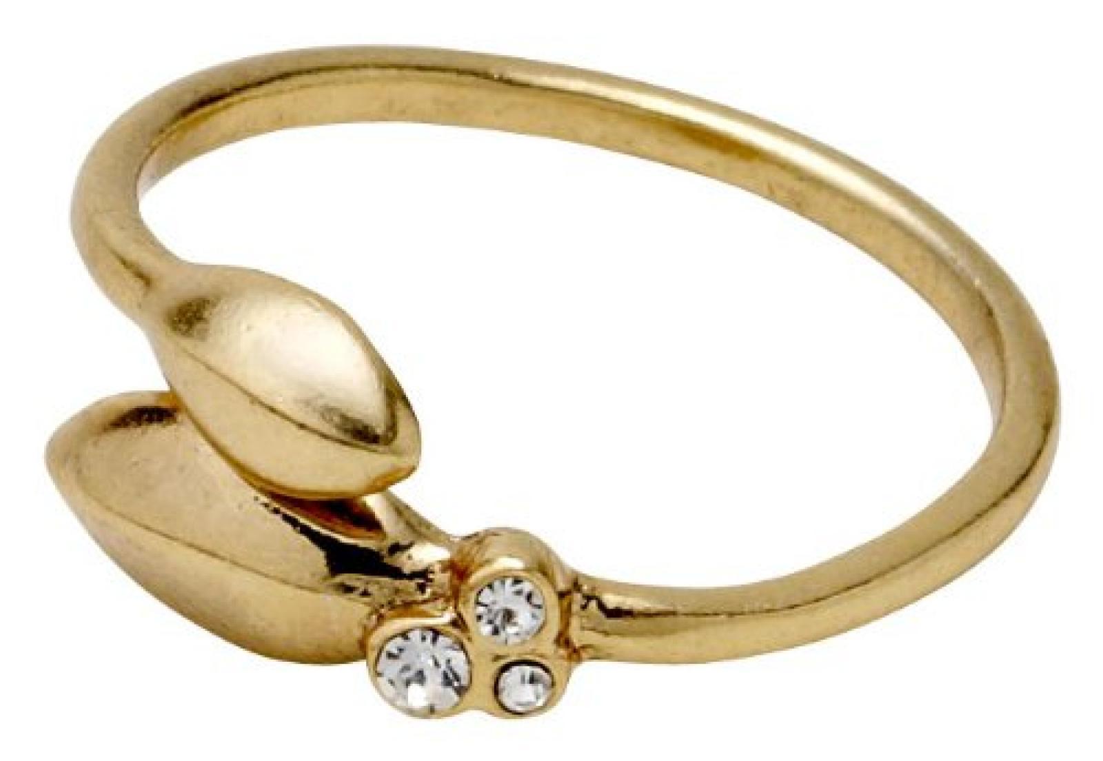 Pilgrim Jewelry Damen-Ring Messing Kristall Glaskristall Clarity weiß Gr. 161342004