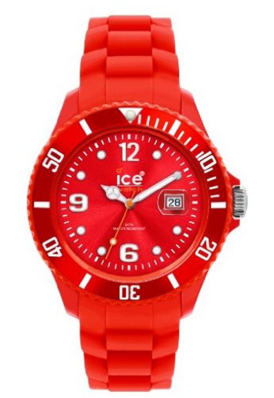 Ice-Watch Unisex-Armbanduhr Sili-Forever rot Analog Quarz SI.RD.U.S.09