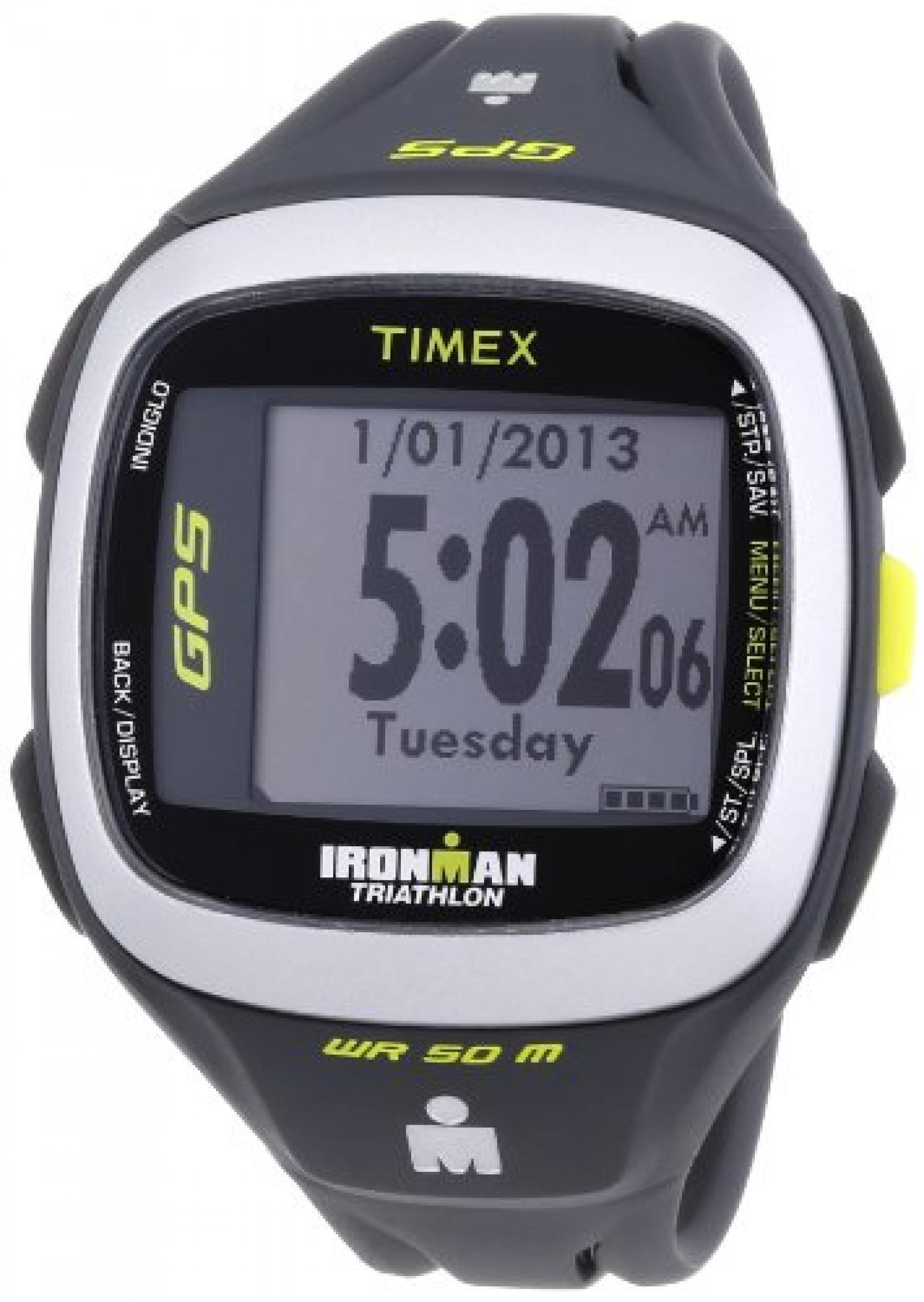 Timex Unisex-Armbanduhr Timex Ironman Run Trainer 2.0 GPS Digital Quarz Plastik T5K745