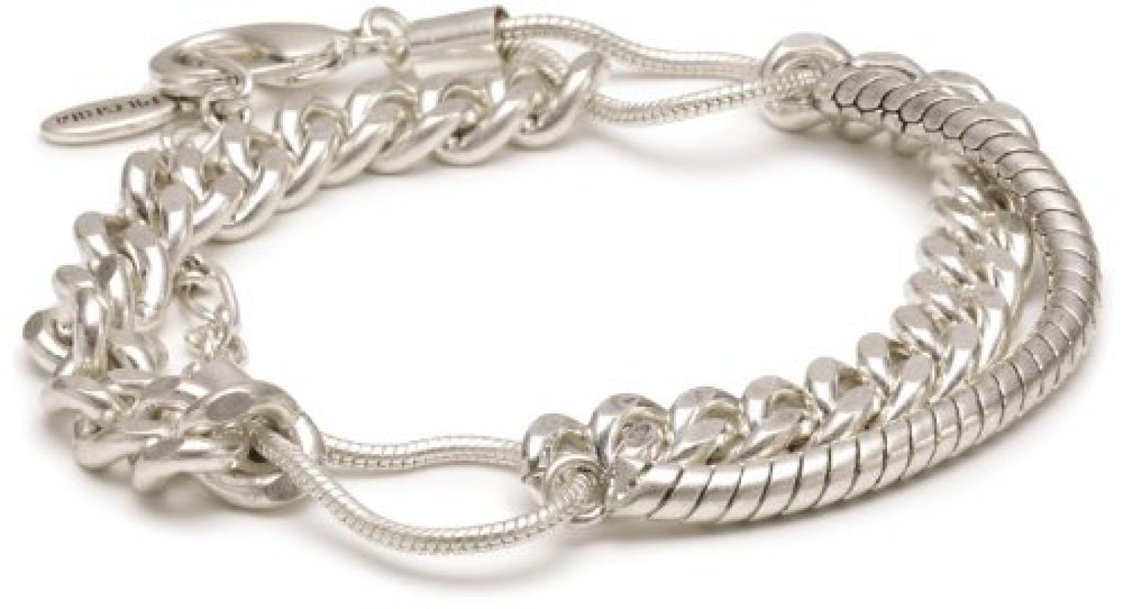Pilgrim Damen-Armband aus der Serie Promises Versilbert, 17 cm + 5 cm Verlängerung, 23122-6012