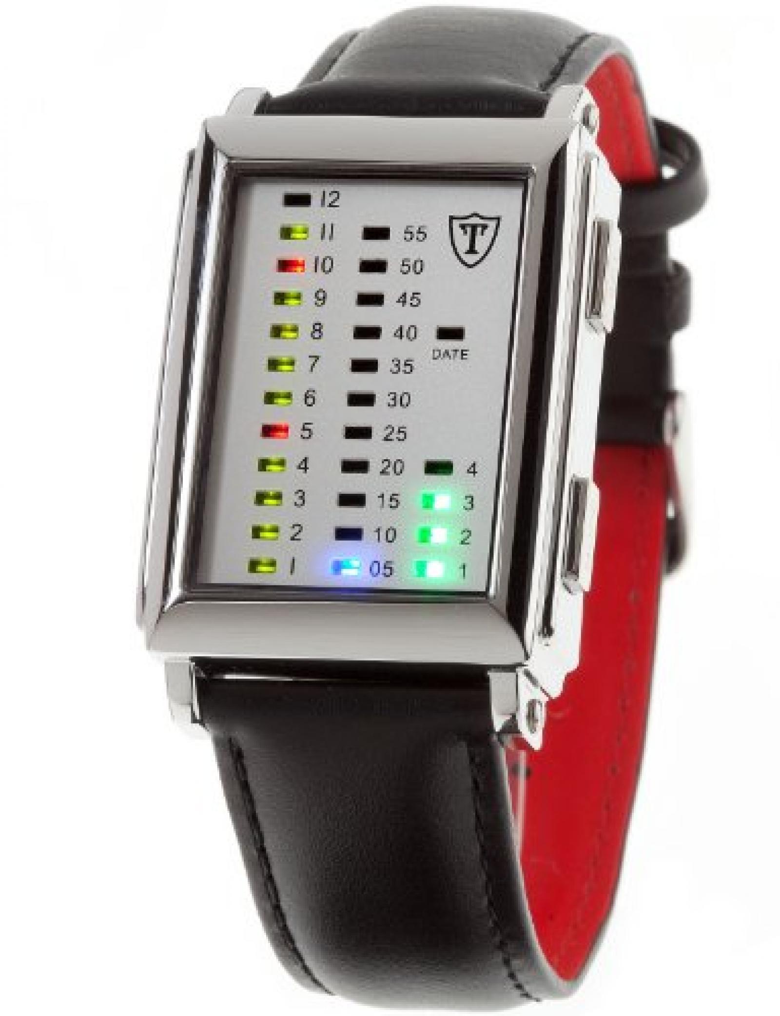 Detomaso Trend Herren-Armbanduhr SPACY TIMELINE Edelstahl Leder