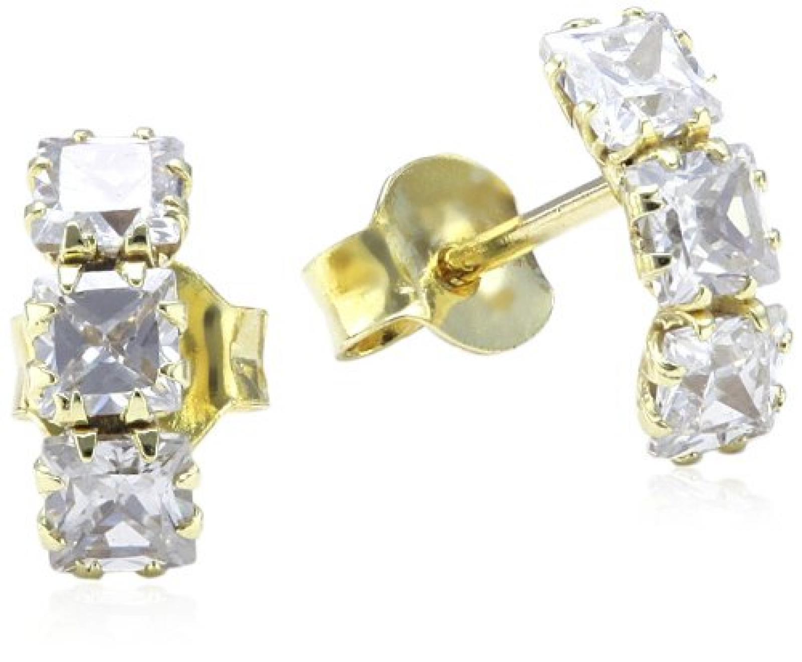 Amor Jewelry Damen-Ohrstecker 8 Karat 333 Gelbgold 133395