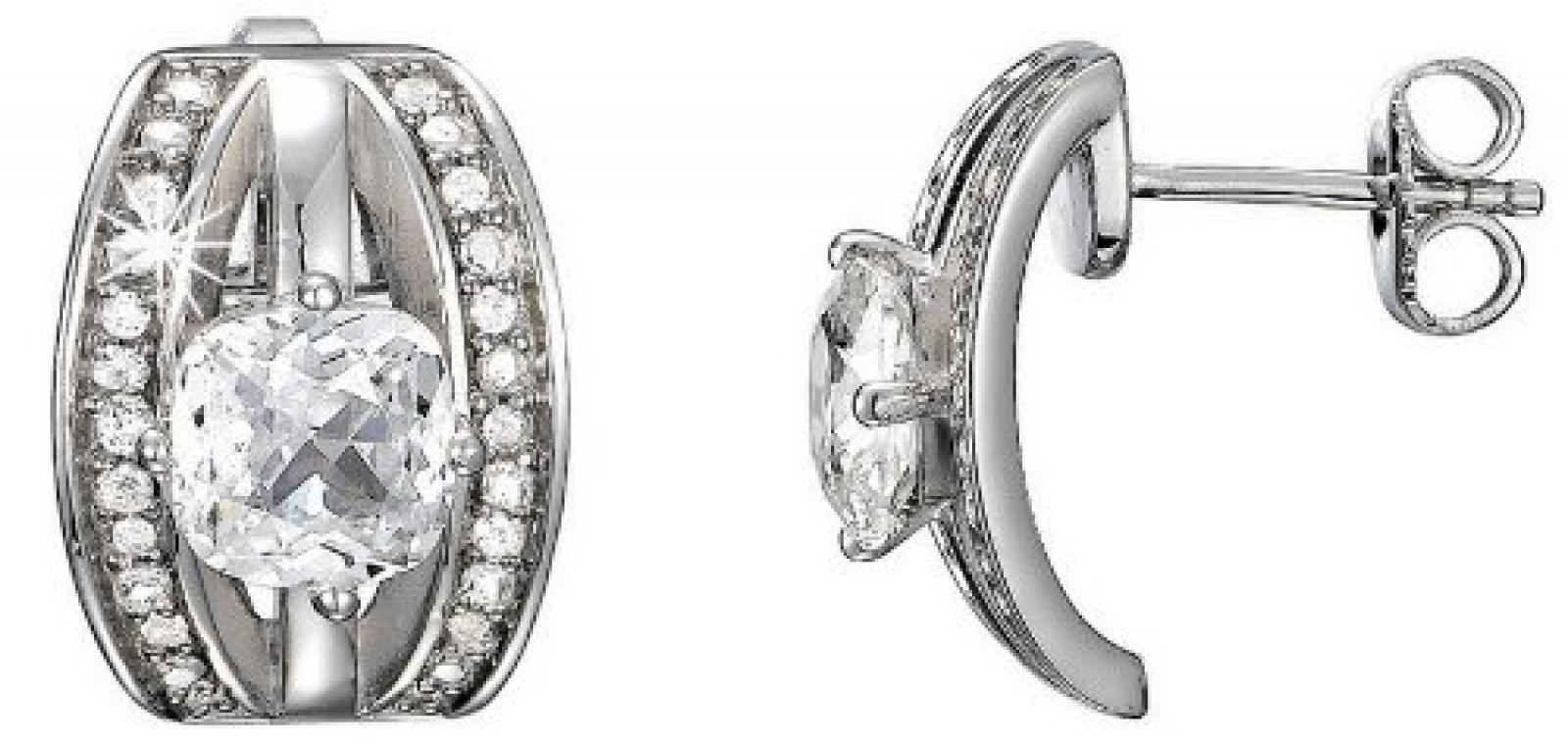 Pierre Cardin Damen-Ohrstecker 925 Sterling Silber rhodiniert Kristall Zirkonia Extase weiß PCER90210A000