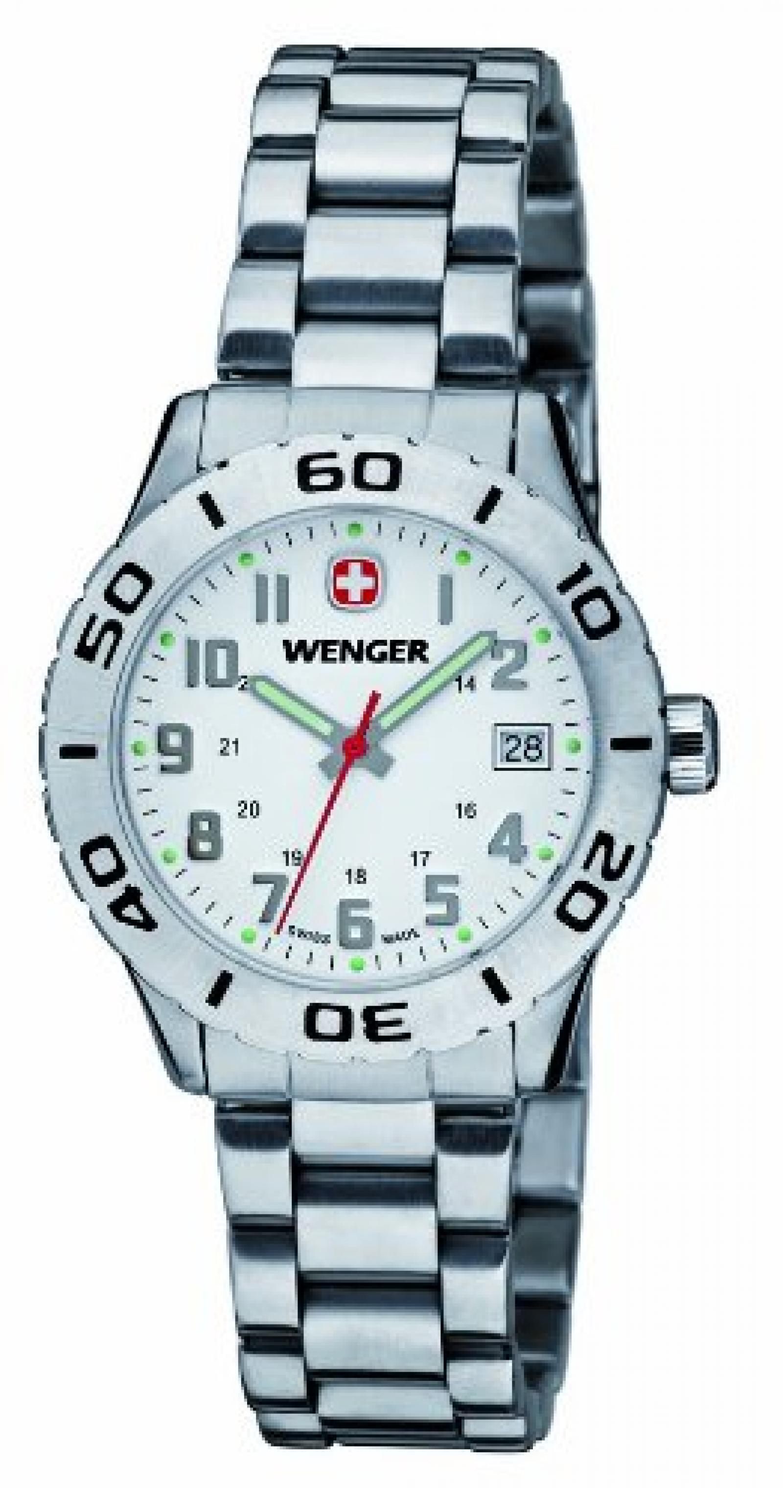 Wenger Damen-Armbanduhr XS Grenadier Analog Quarz Edelstahl 01.0721.102