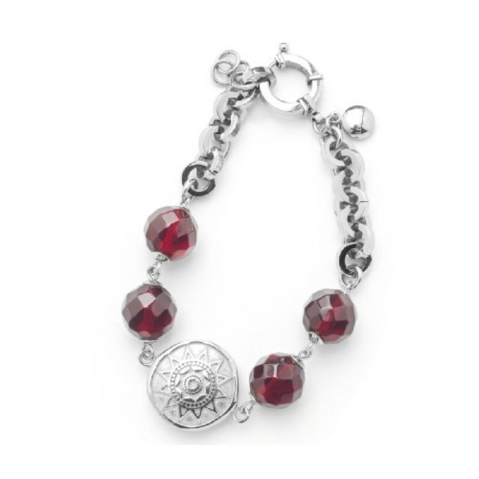 Leonardo Jewels Damenarmband Edelstahl + Glas 21,5cm Toulouse 011694