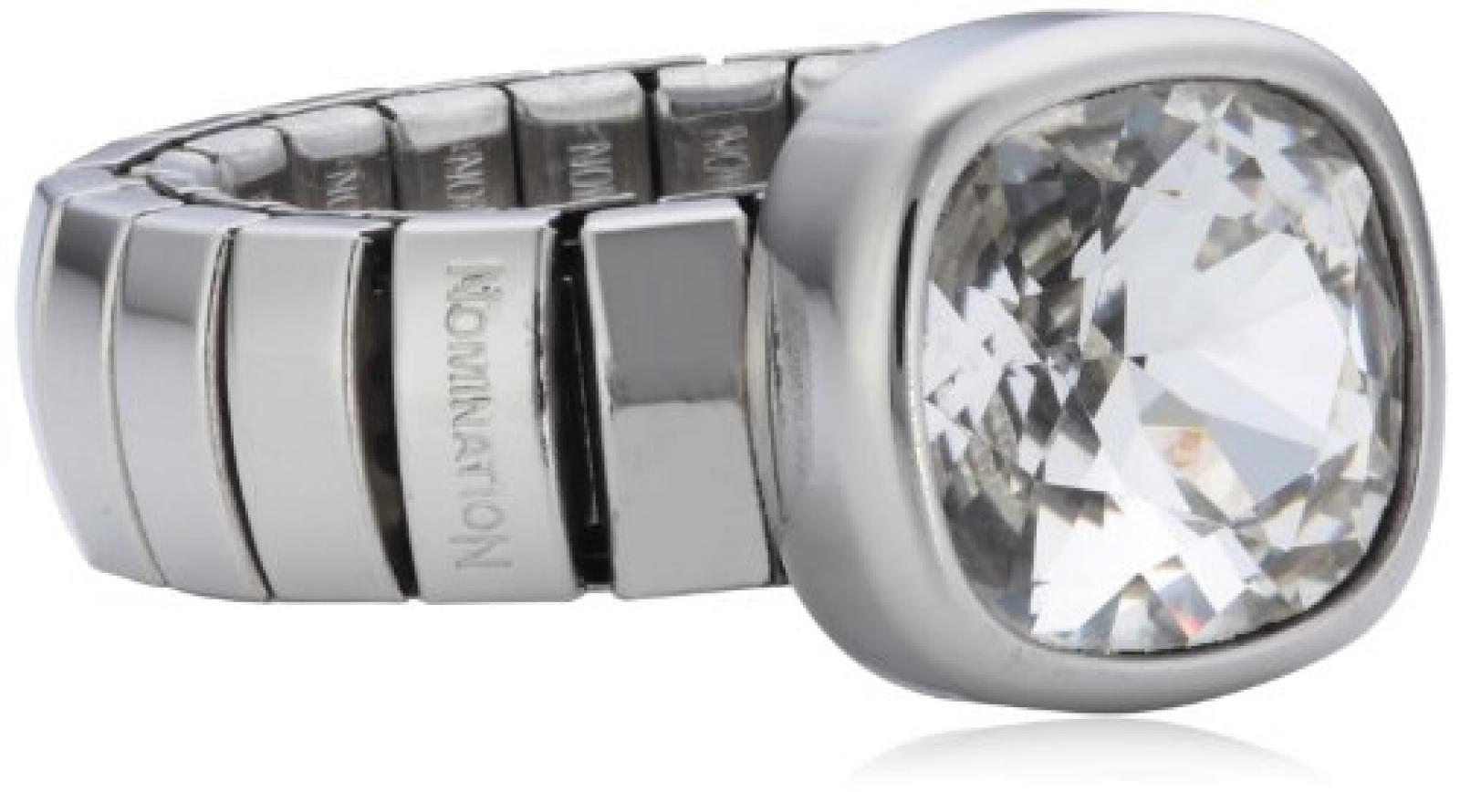 Nomination Damen-Ring Chic Swarovski-Zirkonen Weiß Ring größe variabel 043000/010
