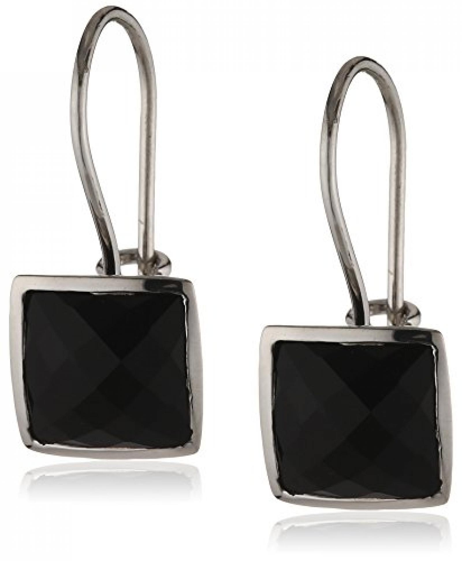 ZEEme Silver Damenohrhänger mit schwarzem Zirkonia 342230009