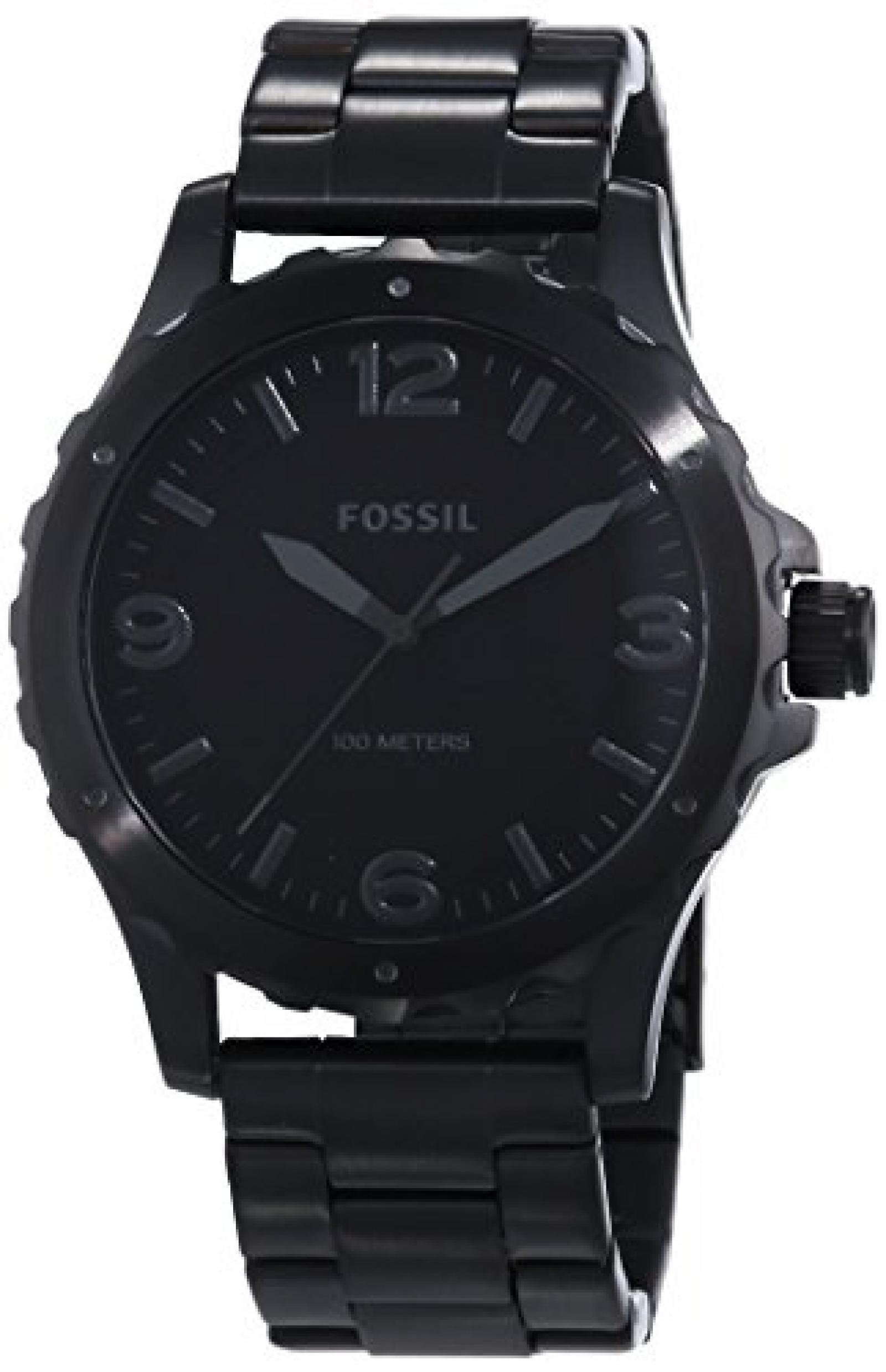 Fossil Herren-Armbanduhr XL Analog Quarz Edelstahl JR1458