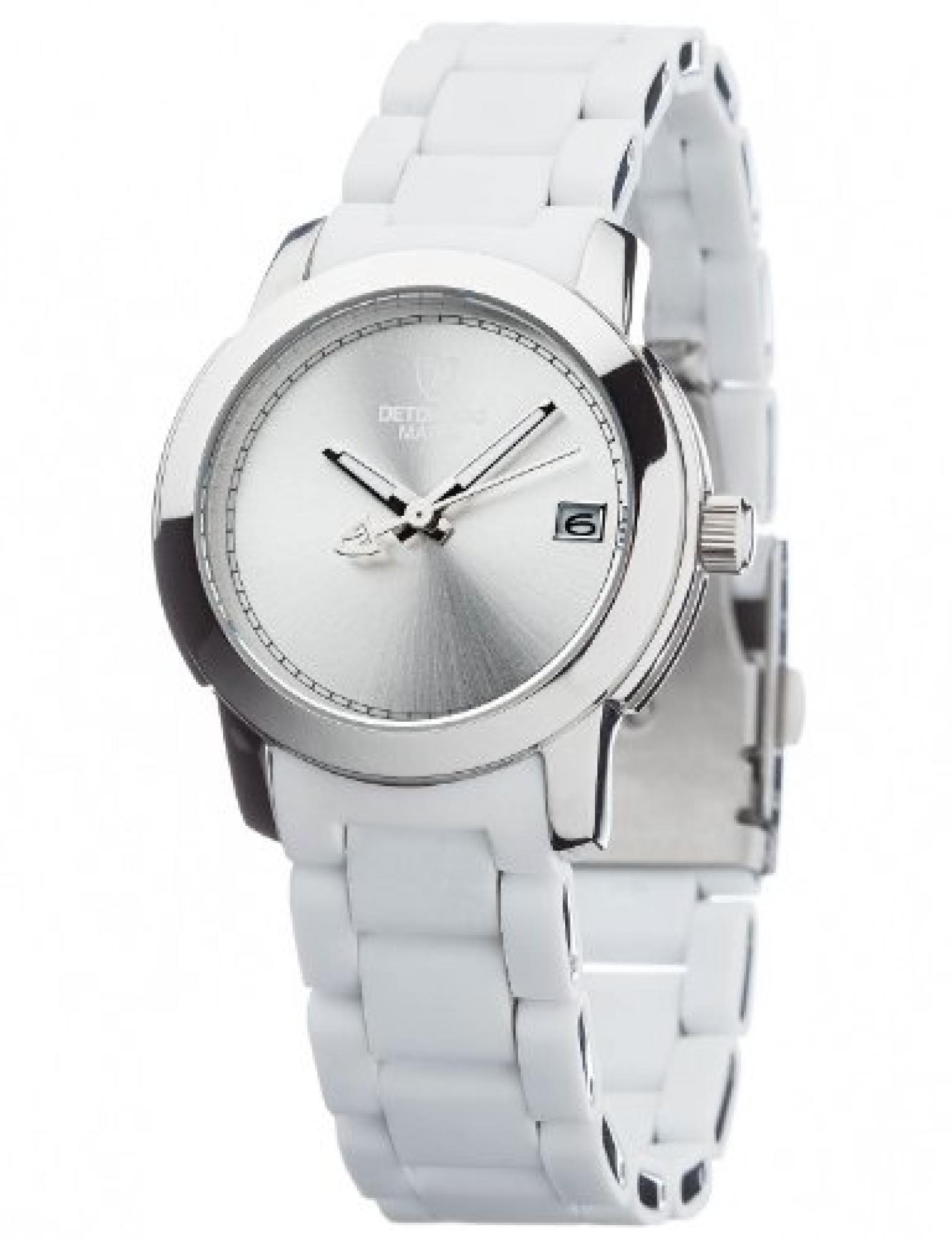 Detomaso Damen-Armbanduhr MAIRA Weiss Ladies Damen Analog Quarz verschiedene Materialien DT3019-A