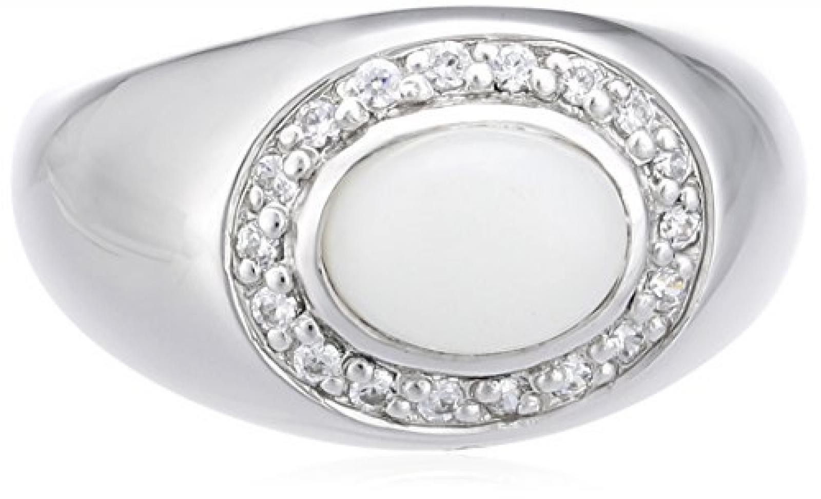 Celesta Damen-Ring 925 Sterling Silber Achat + Zirkonia weiß 273270871