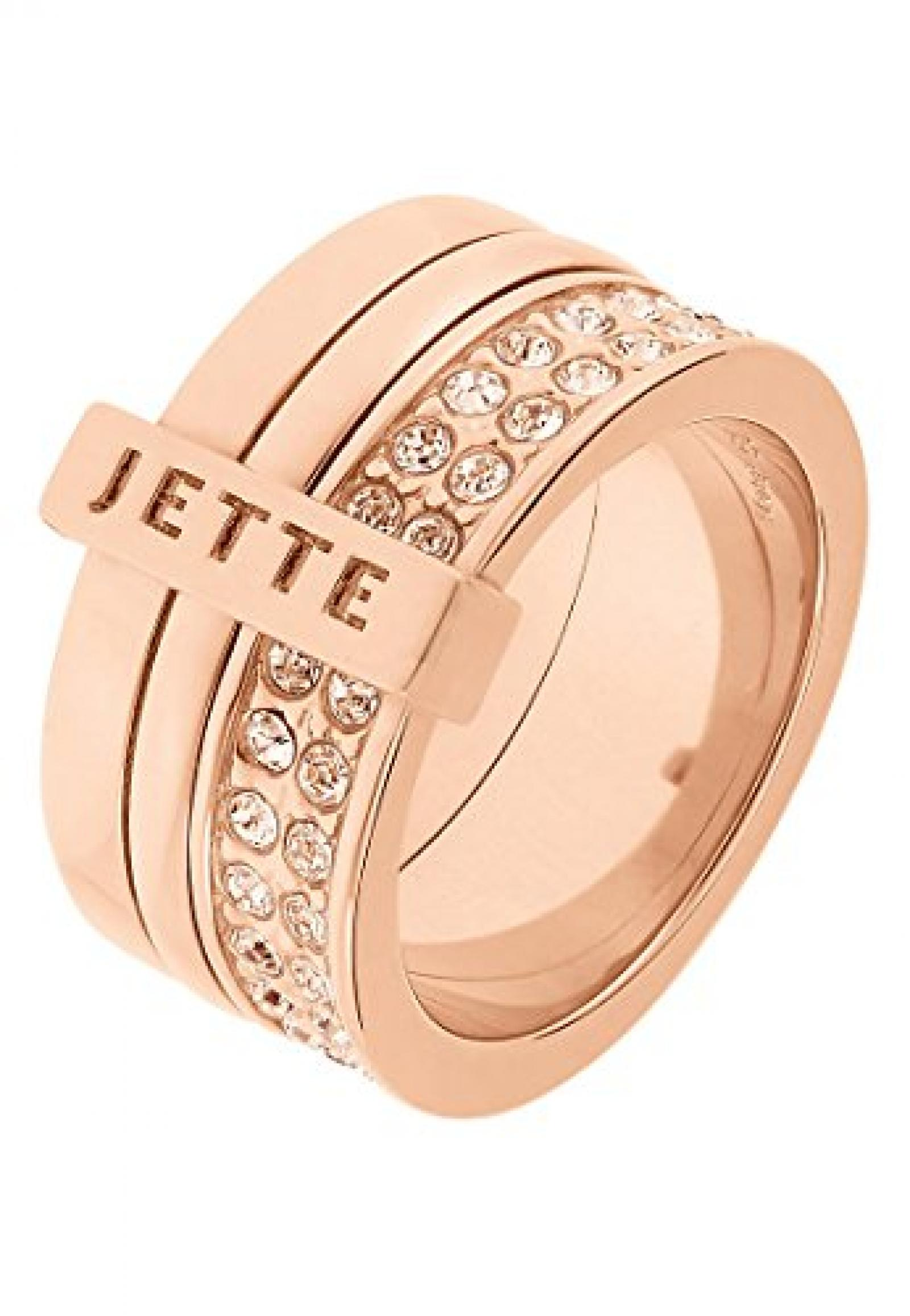 JETTE Magic Passion Damen-Ring Pure Glam Metall 80 Kristall (rosé)