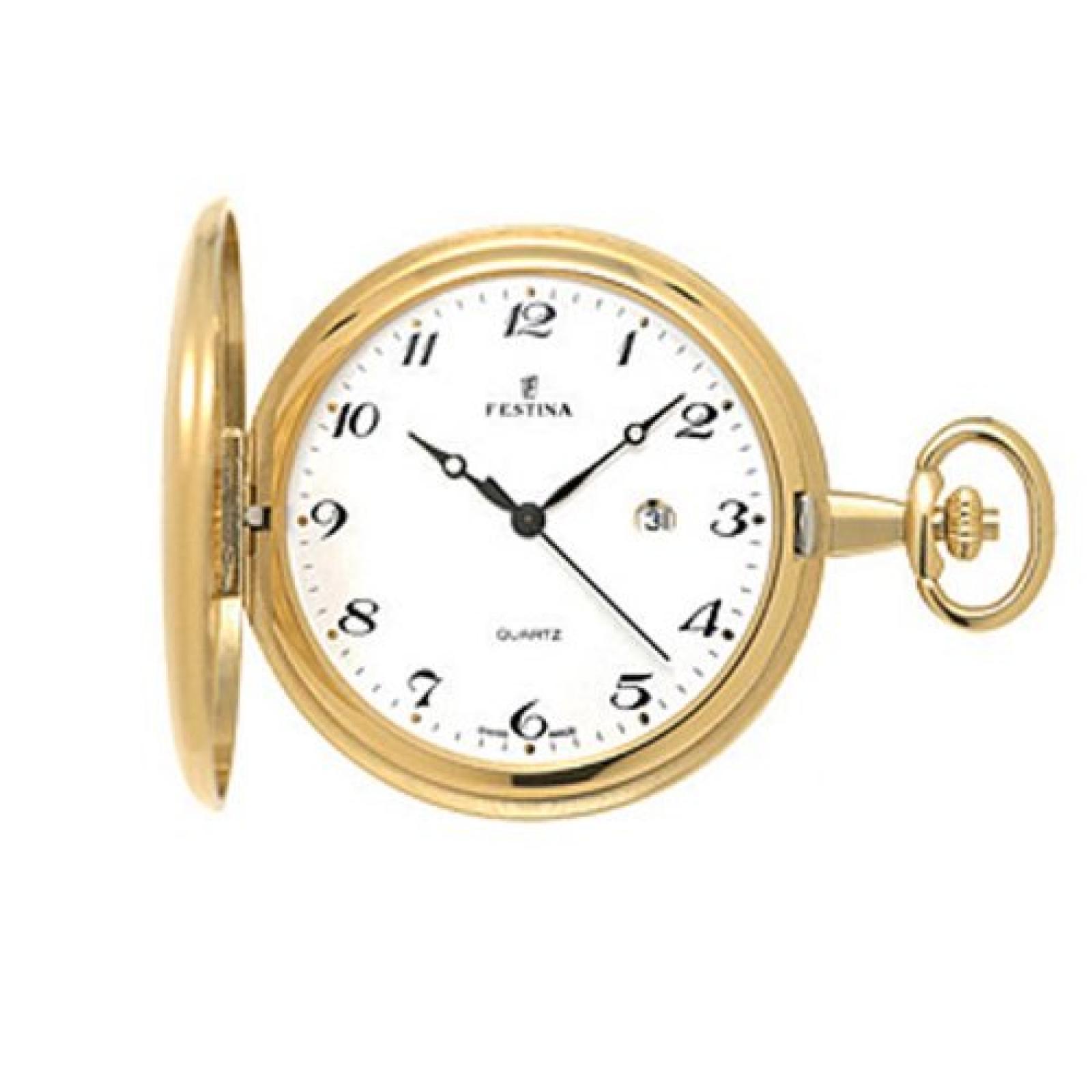 Festina Herren-Armbanduhr XL Klassik Taschenuhren vergoldet Analog Edelstahl beschichtet F2009/1