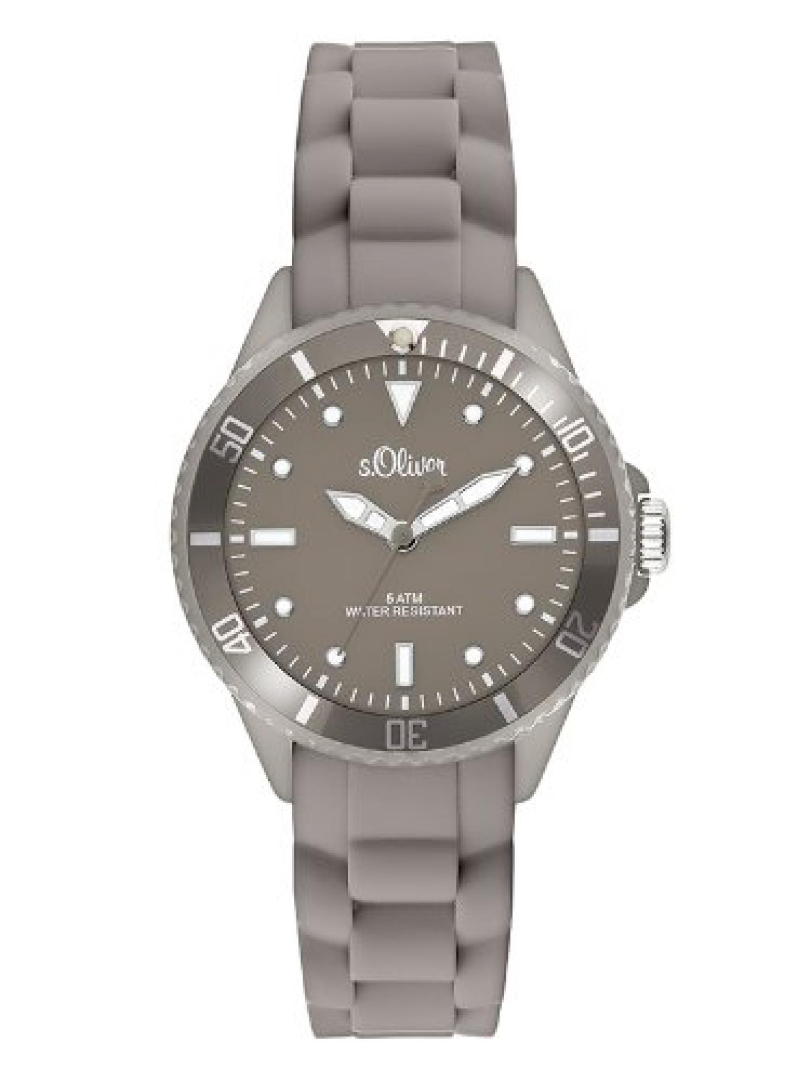 s.Oliver Unisex-Armbanduhr Analog Quarz Silikon SO-2575-PQ