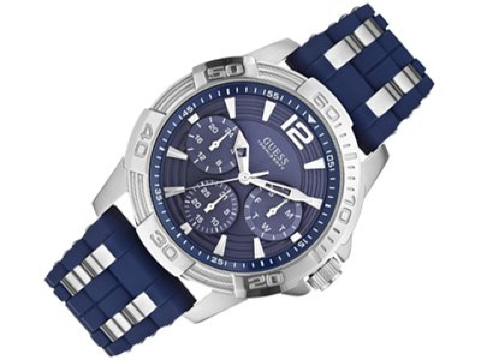 Guess Herren-Armbanduhr XL Analog Quarz Kautschuk W0366G2