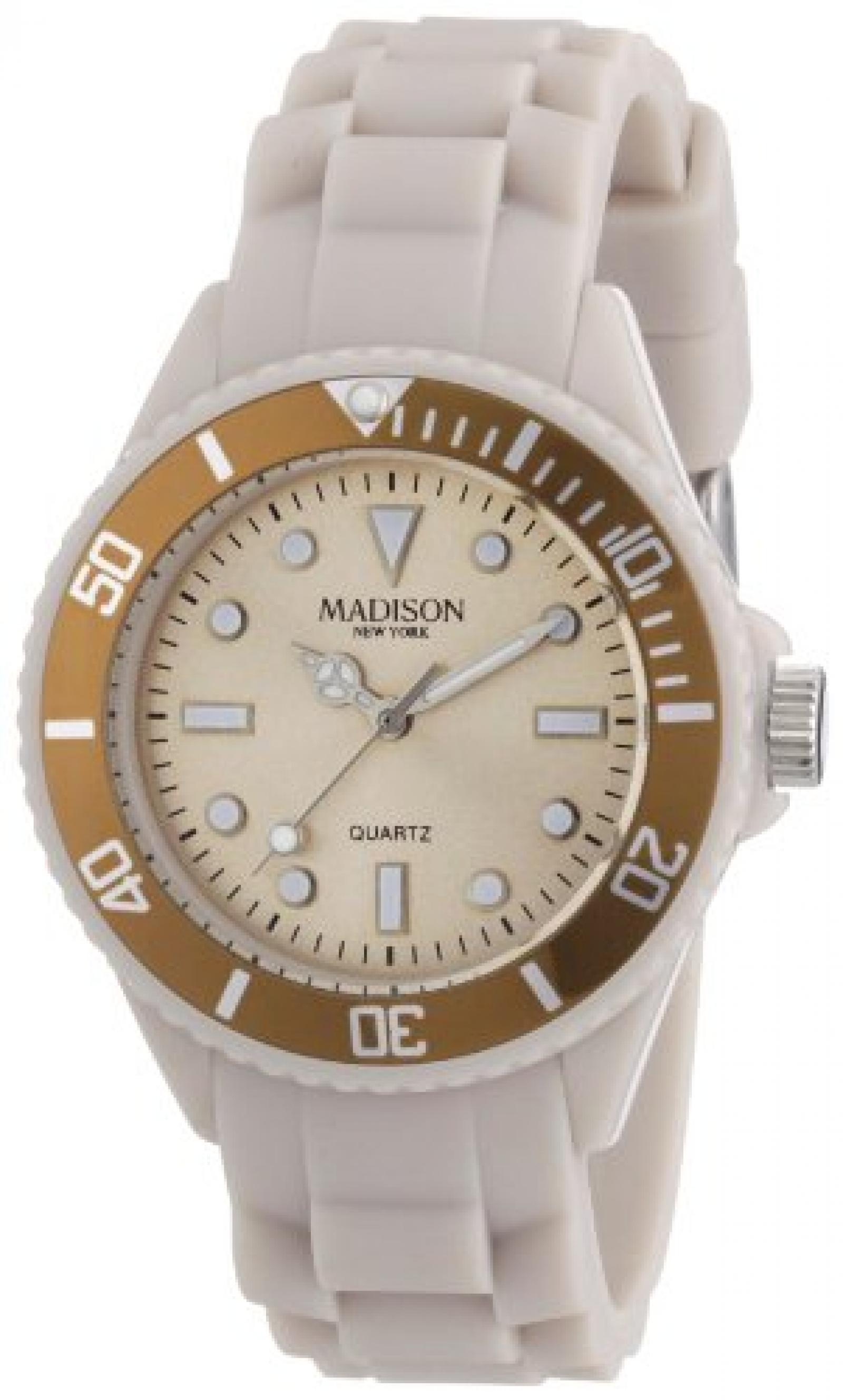 Madison New York Unisex-Armbanduhr Candy Time Mini Analog Silikon L4167-09