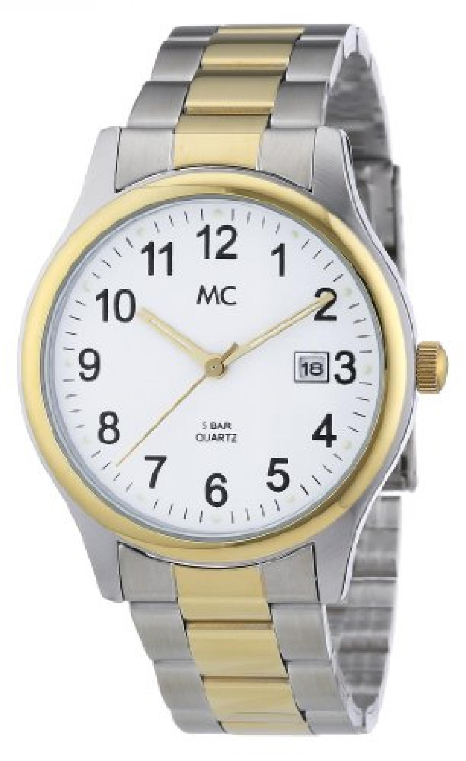 MC Timetrend Herren-Armbanduhr Analog Quarz Metallband 26763