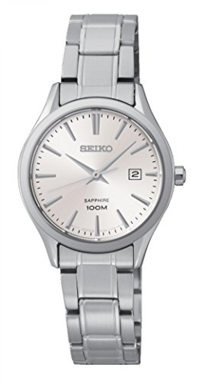 Seiko Damen-Armbanduhr Analog Quarz Edelstahl SXDG17P1