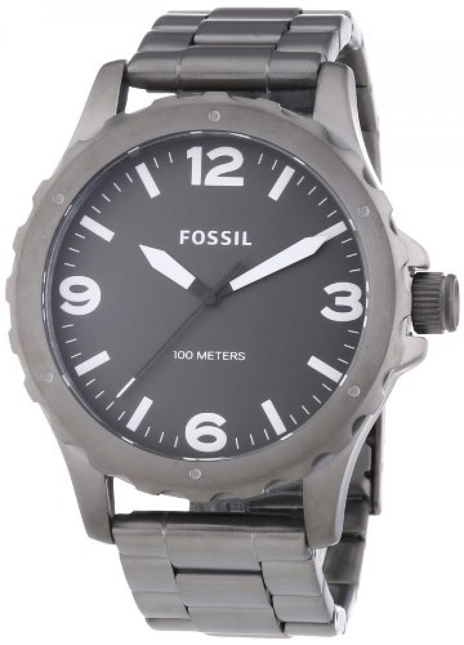 Fossil Herren-Armbanduhr XL Nate Analog Quarz Edelstahl beschichtet JR1457