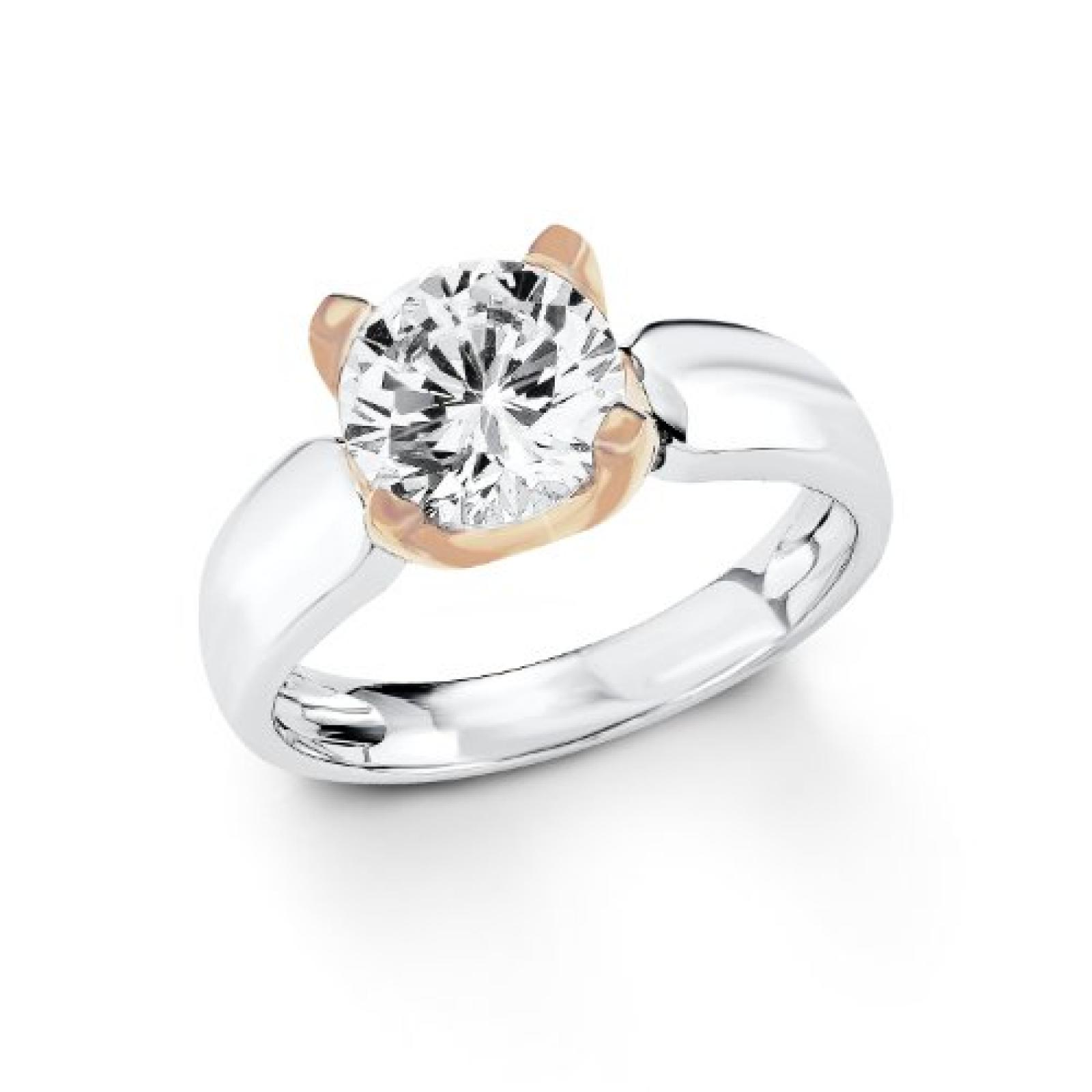 s.Oliver Jewel Damen-Ring 925 Sterling Silber Zirkonia weiß  4873