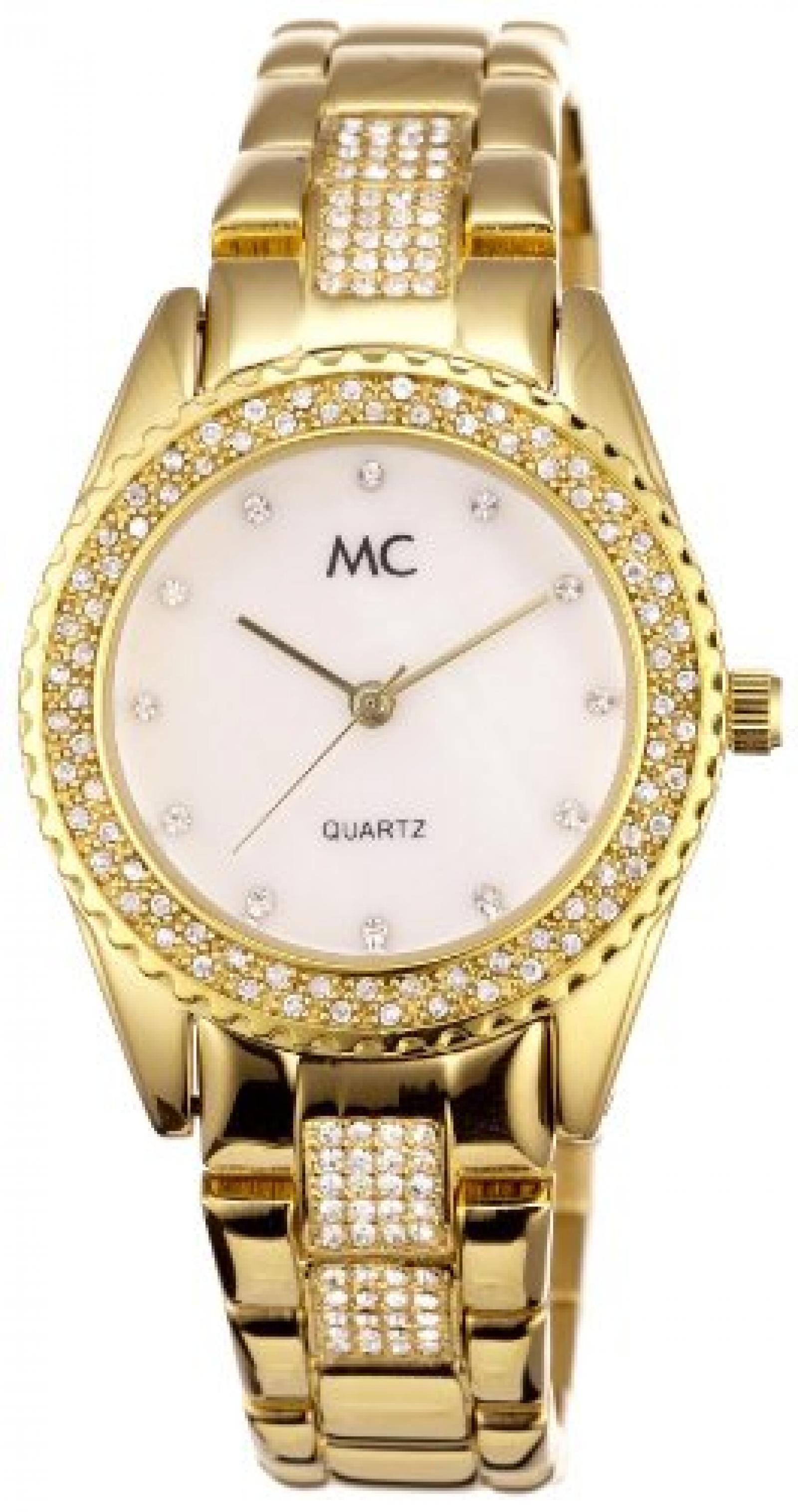 MC Timetrend Damen-Armbanduhr Analog Quarz Metallband 50115
