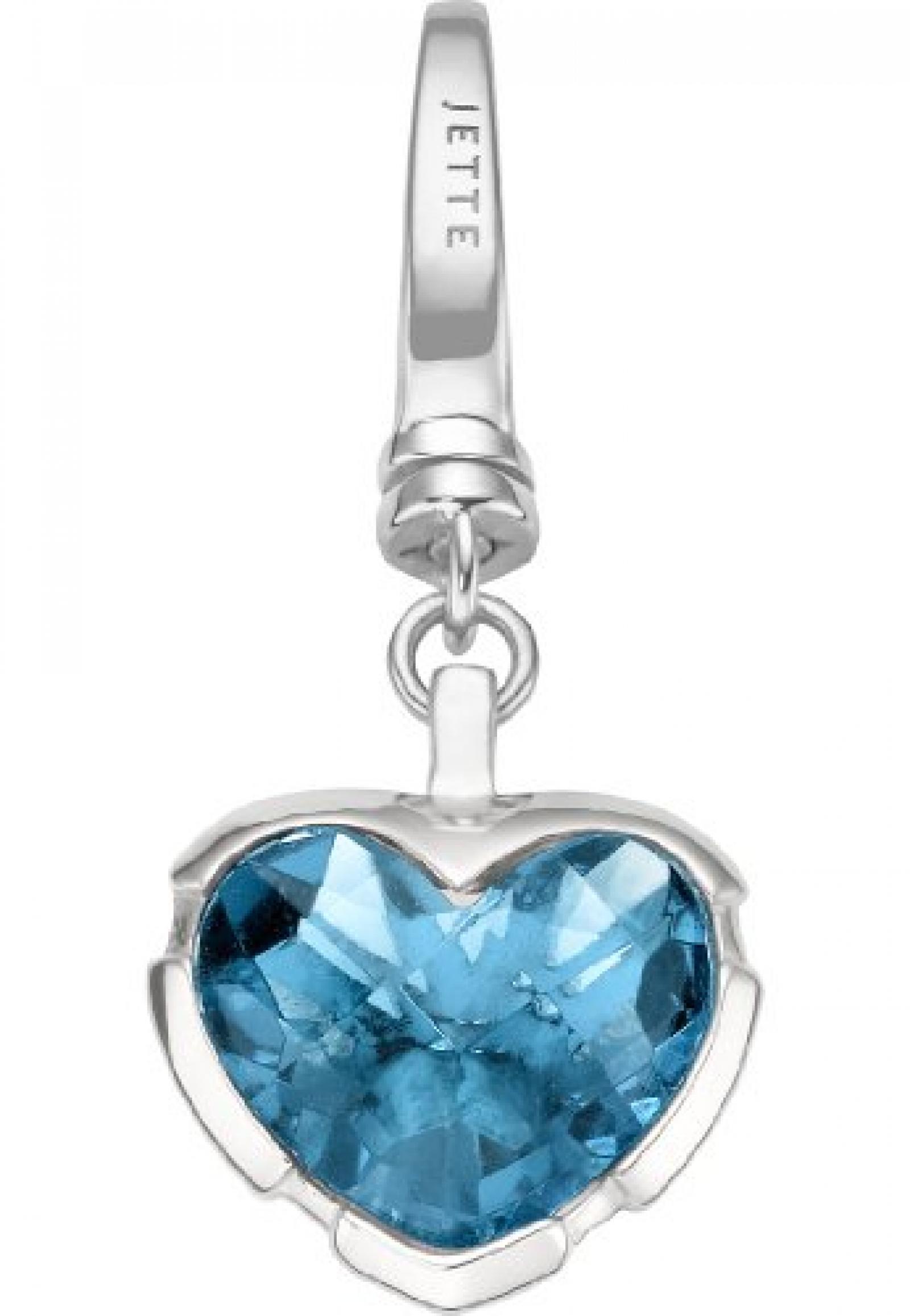 JETTE Charms Damen-Charm CHARM 925er Silber rhodiniert 1 Kristall One Size, blau