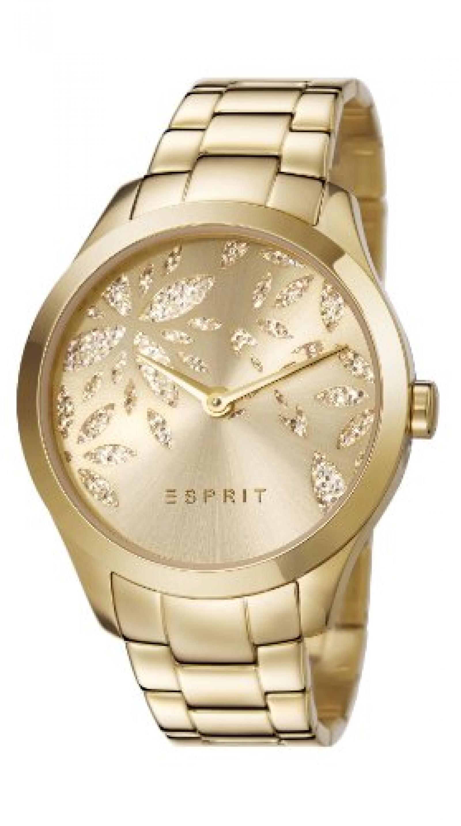 Esprit Damen-Armbanduhr Analog Quarz Edelstahl beschichtet ES107282003
