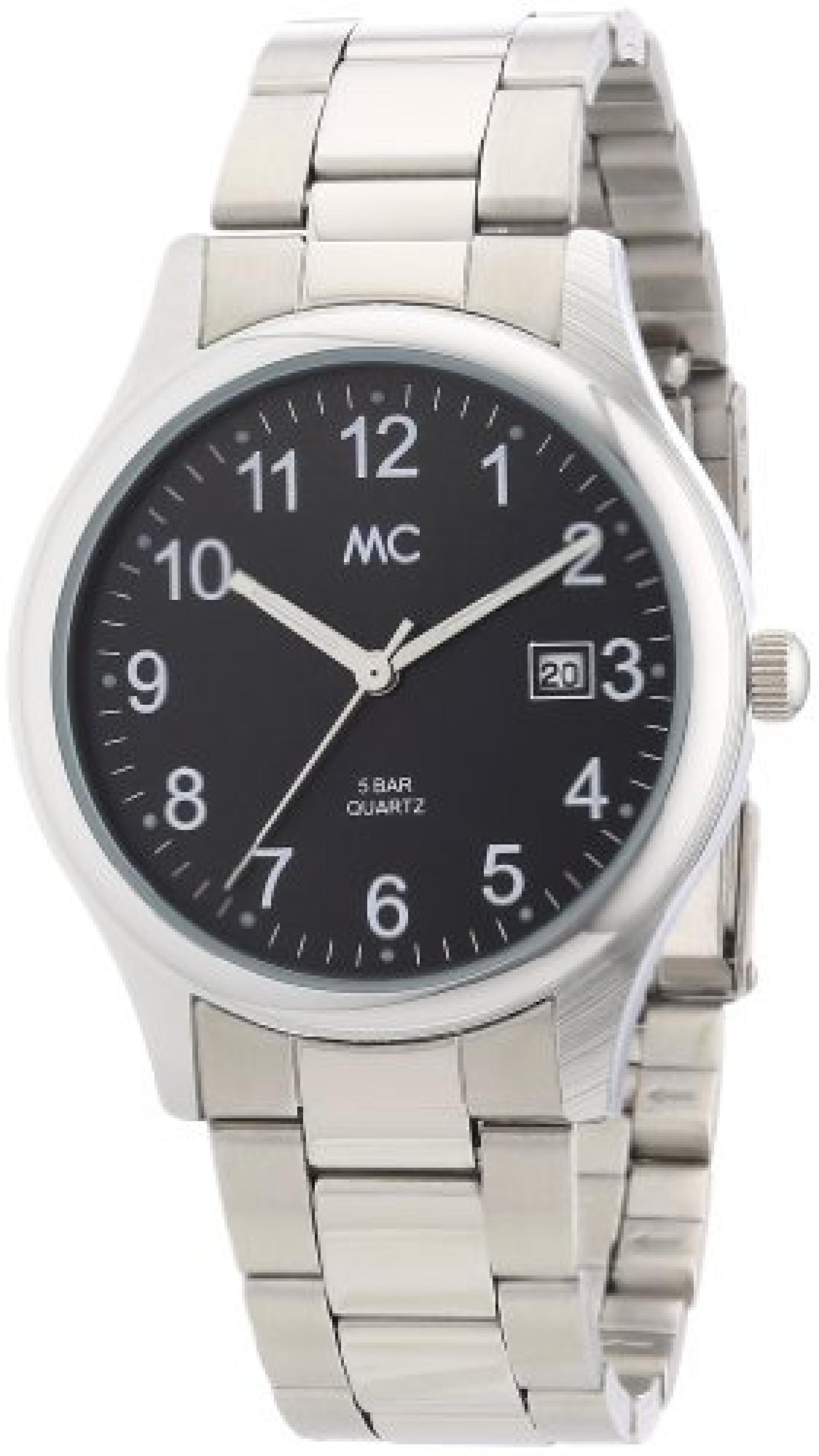 MC Timetrend Herren-Armbanduhr Analog Quarz Metallband 26419