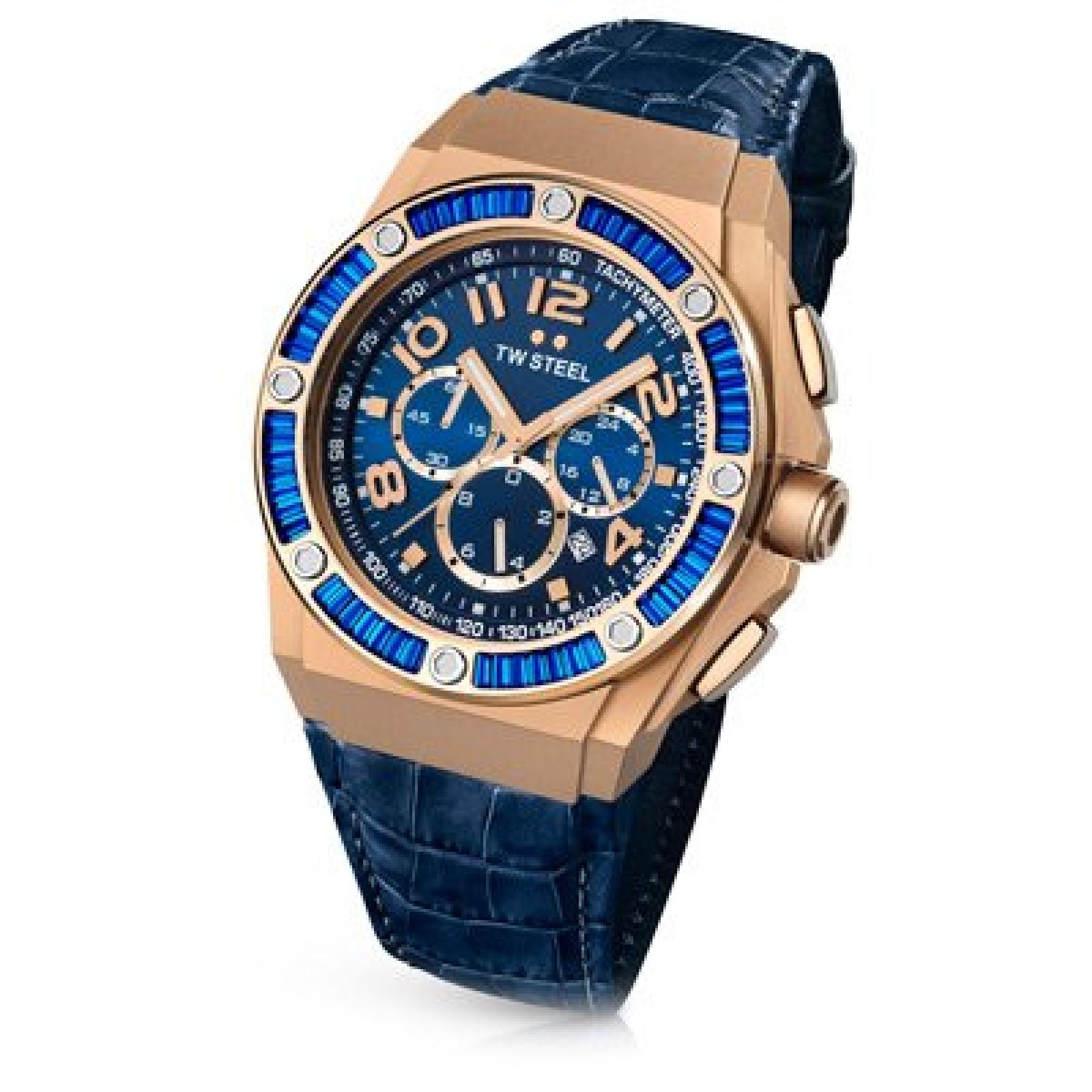 TW Steel Damen-Armbanduhr XL TECH Chronograph Quarz Leder TWCE4007