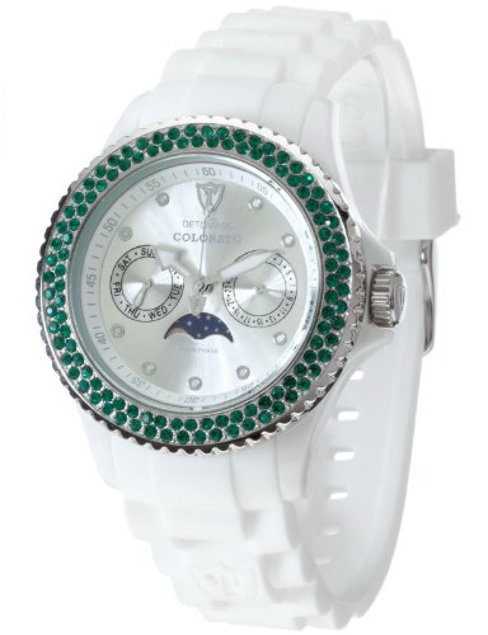 Detomaso Damen-Armbanduhr  COLORATO LUNA DT3017-C Ladies Analog Quarz Silikon DT3017-C