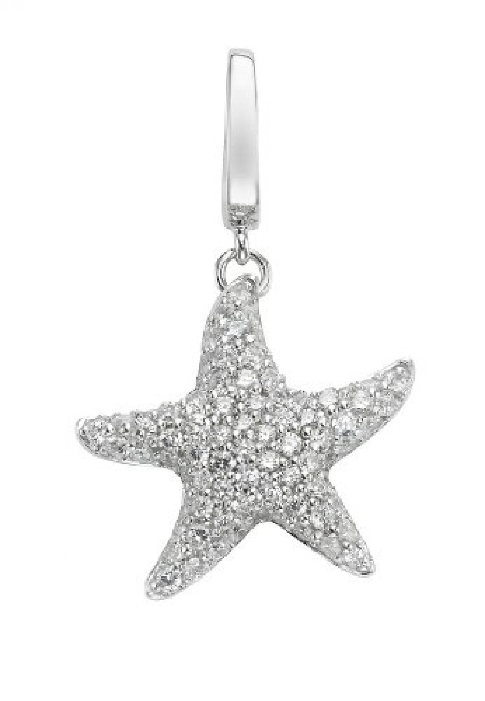 JETTE Charms Damen-Charm CHARM 925er Silber 82 Zirkonia One Size, silber