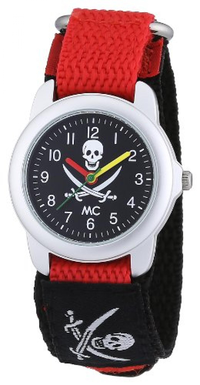 MC Timetrend Jungen-Armbanduhr Pirat Analog Quarz Textil 50381