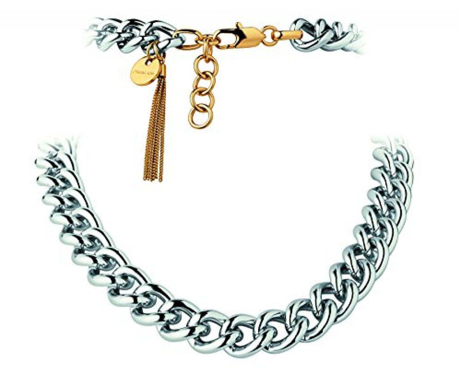 Dyrberg/Kern Damen-Halsband Versilbertes Metall silber 335173