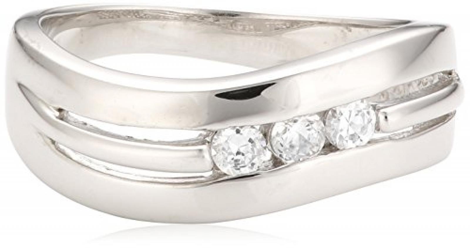 Celesta Damen-Ring 925 Sterlingsilber Zirkonia weiß 360270921