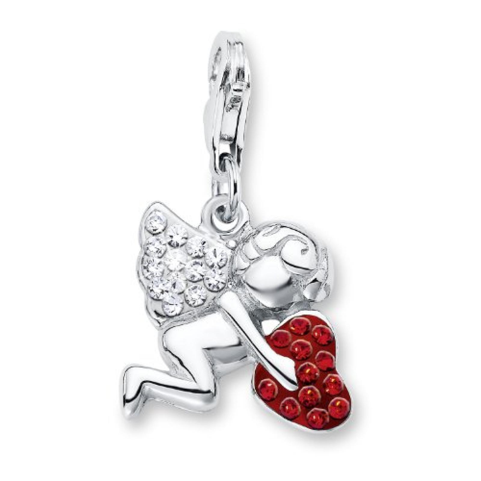 Amor Jewelry Damen-Charm Engel mit Herz 925 Sterling Silber 415484