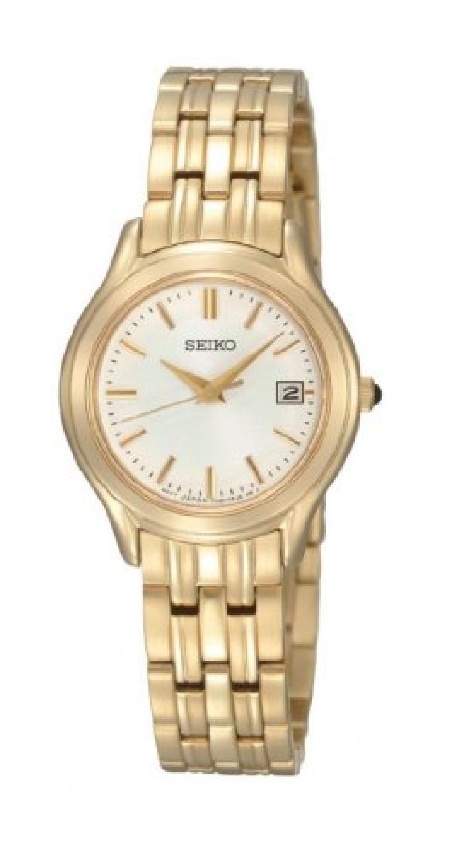 Seiko Damen-Armbanduhr XS Damenuhren Analog Quarz Edelstahl beschichtet SXDC24P1
