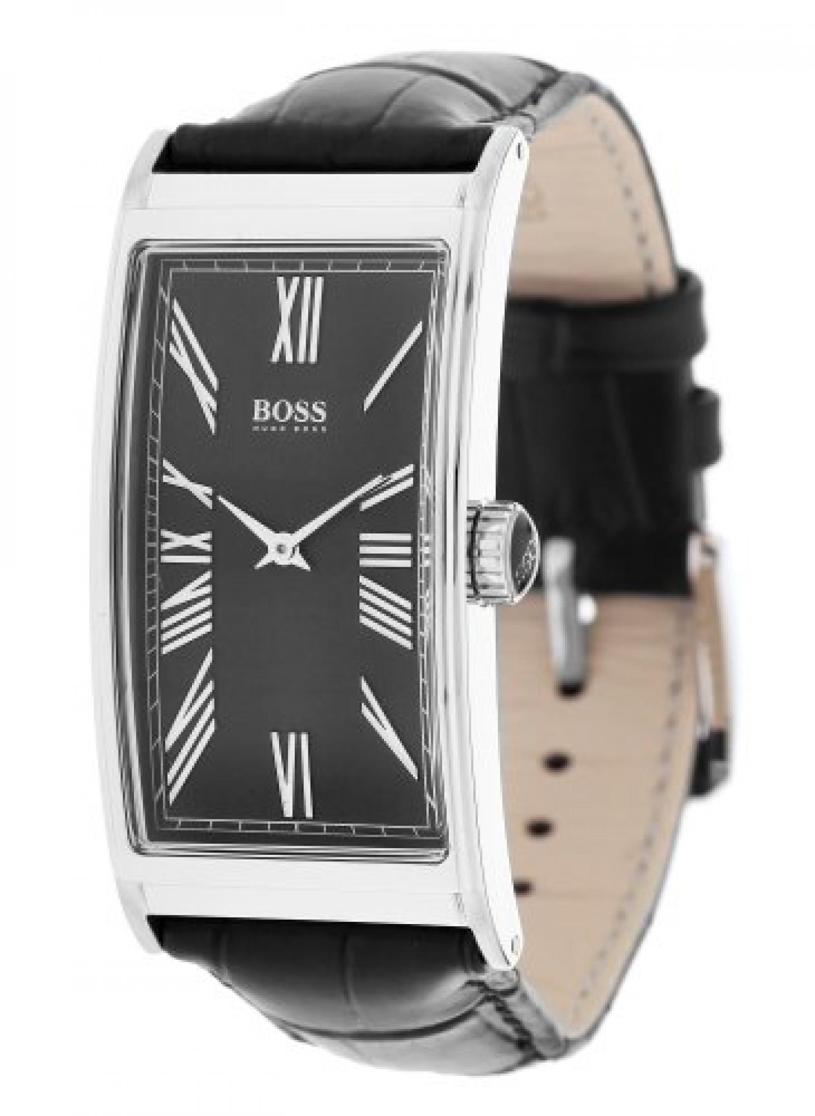 Hugo Boss Herren-Armbanduhr Analog Quarz Leder 1512789