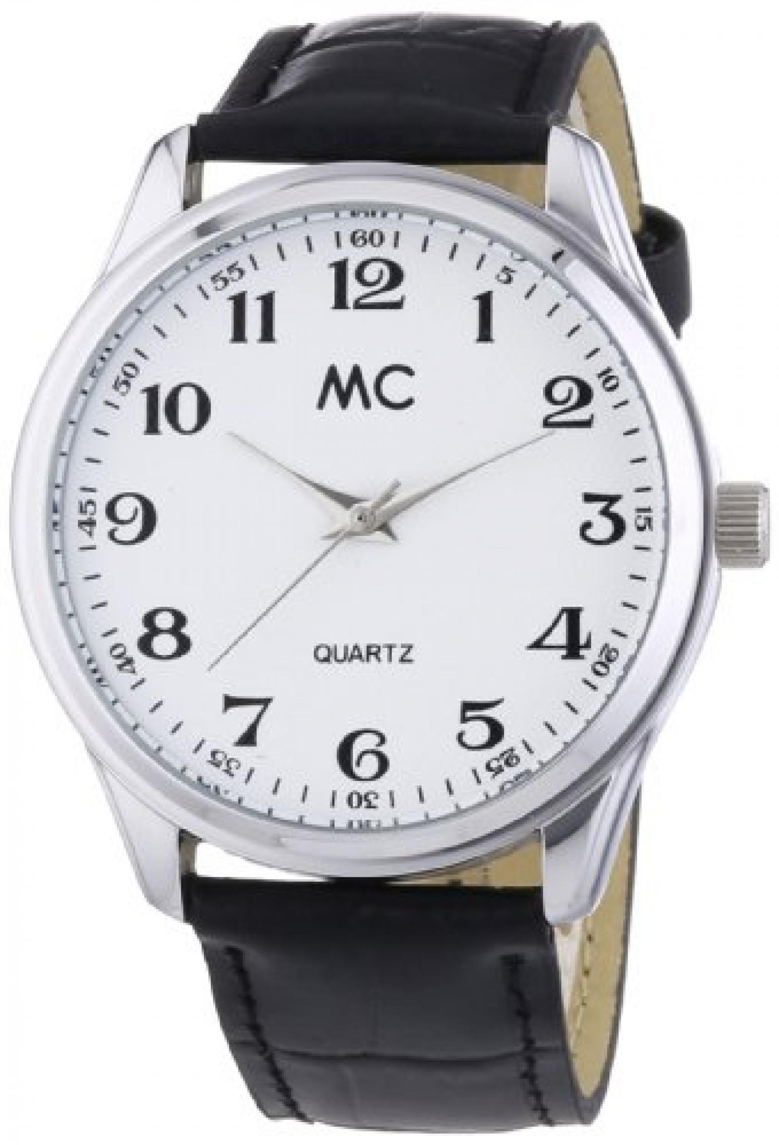 MC Timetrend Herren-Armbanduhr Analog Quarz Leder 27658