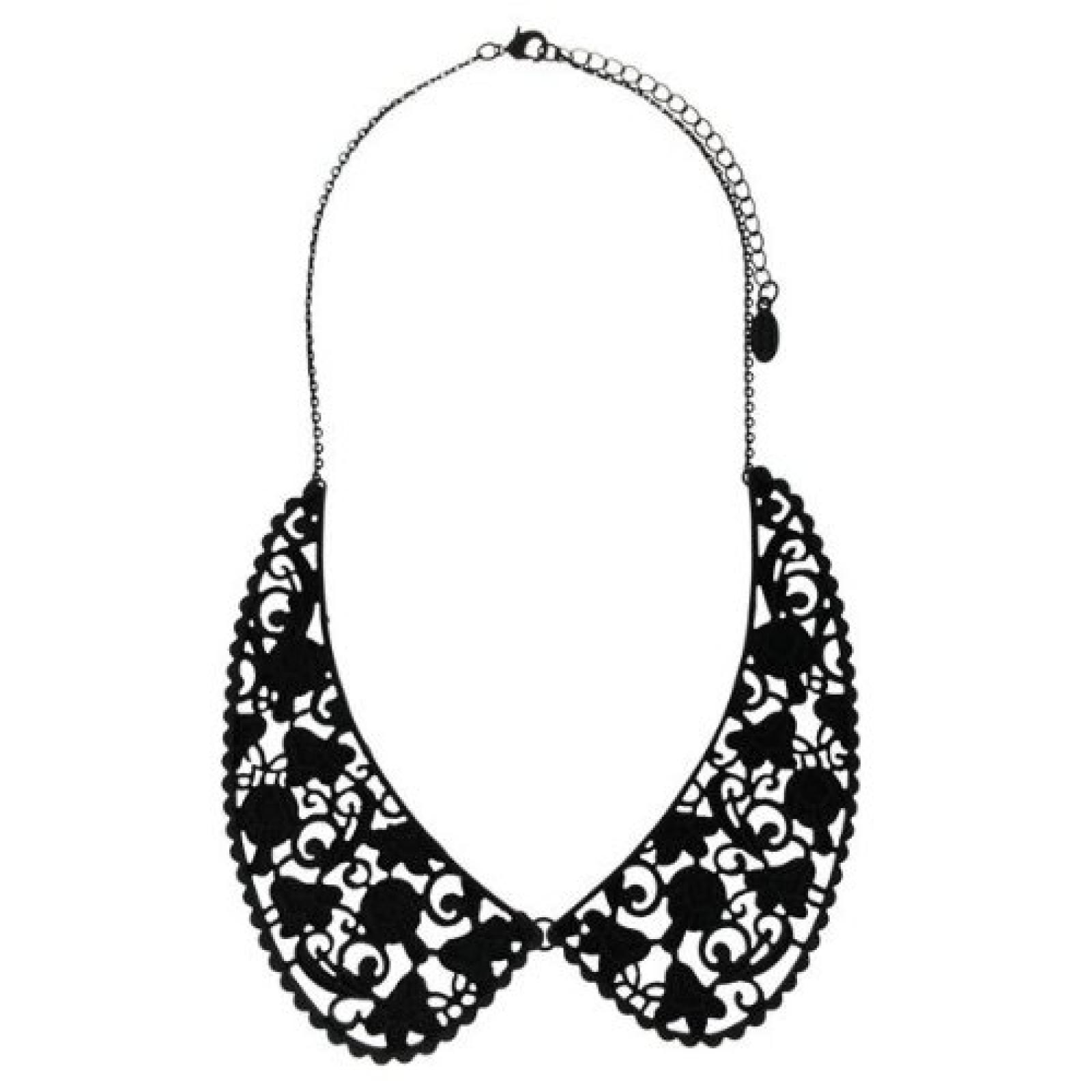 Sweet Deluxe Damen-Halskette Messing Lennja matt schwarz 2830