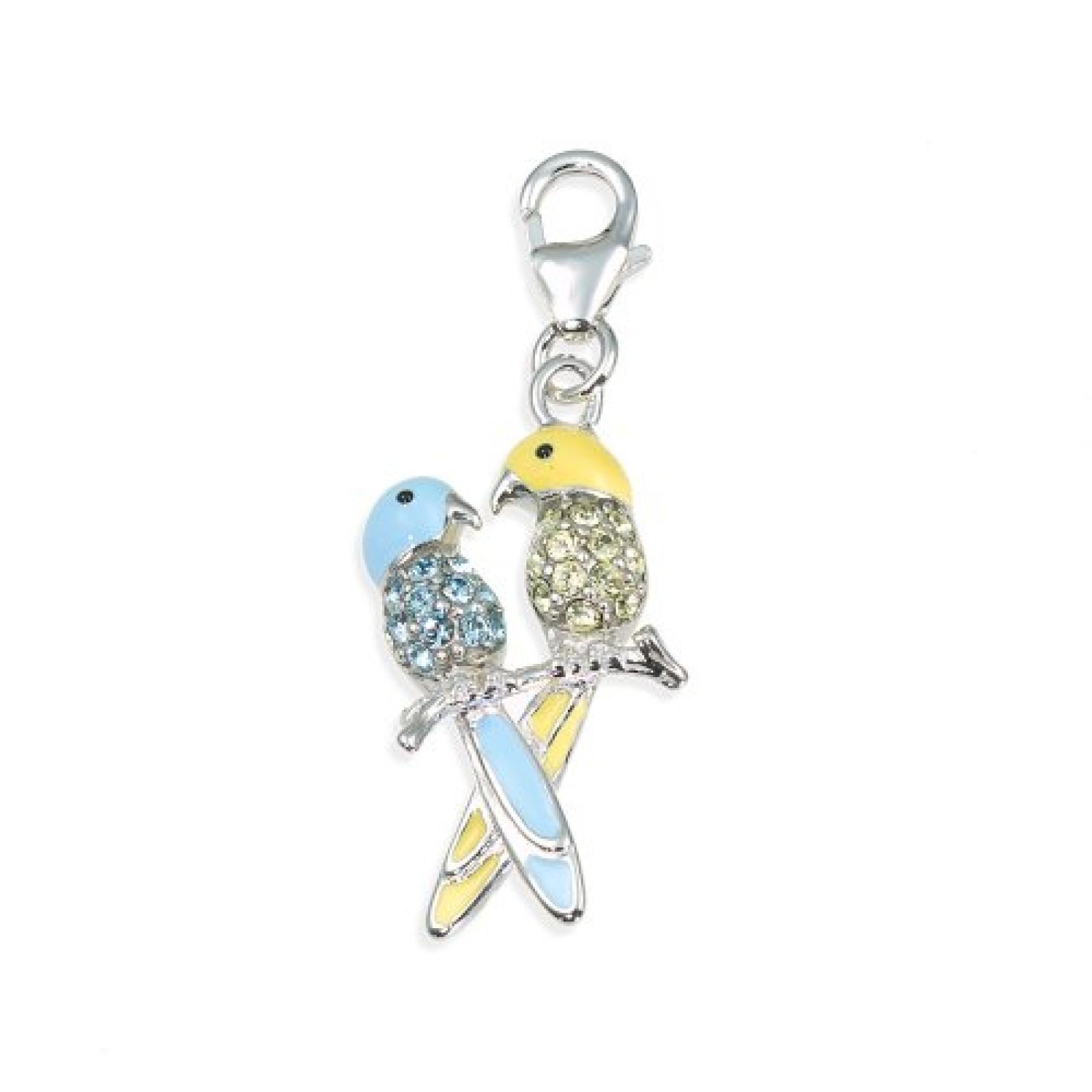 Amor Jewelry Damen-Charm Vögel 925 Sterling Silber 378581