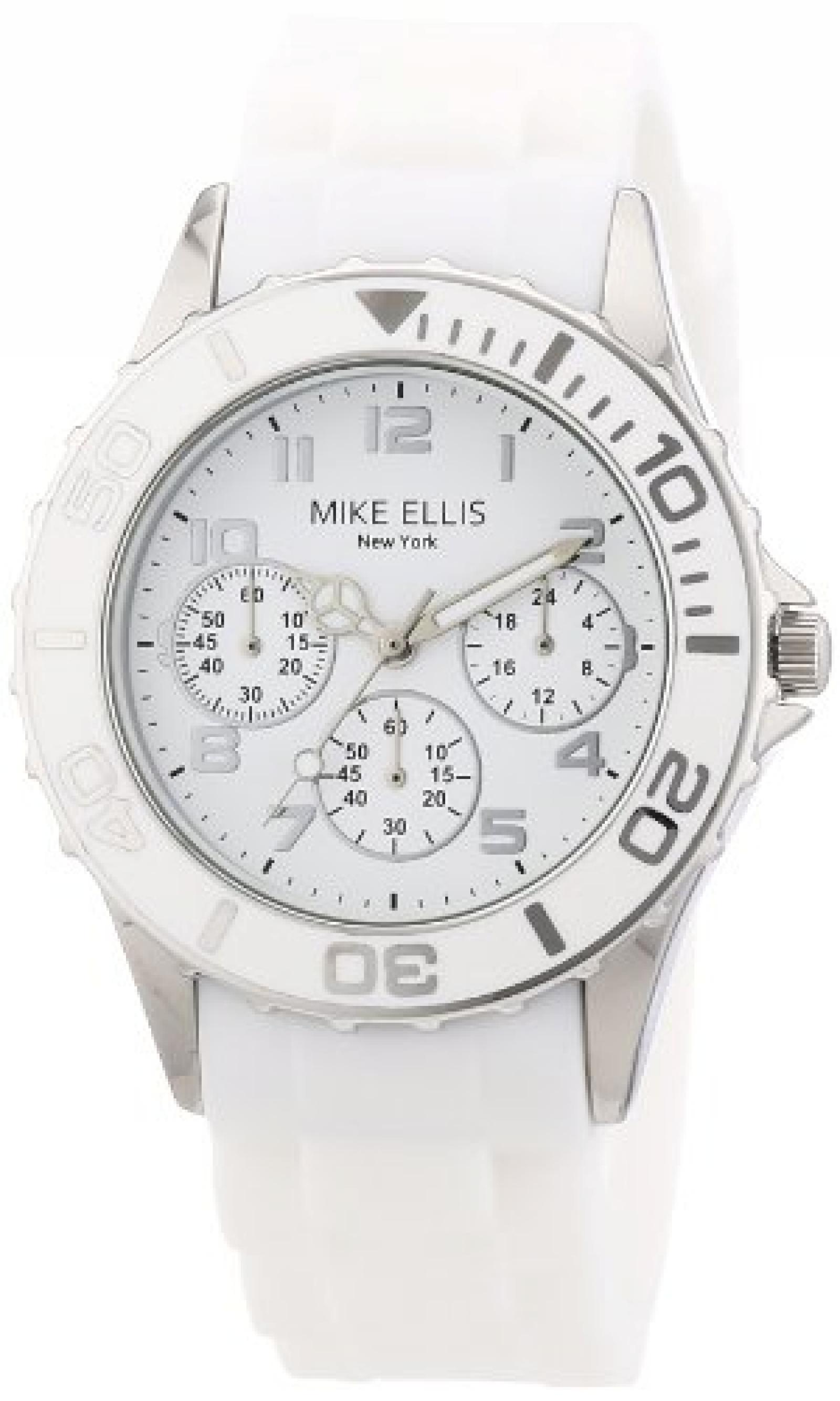 Mike Ellis New York Damen-Armbanduhr XS Analog Quarz Silikon S2703ASS